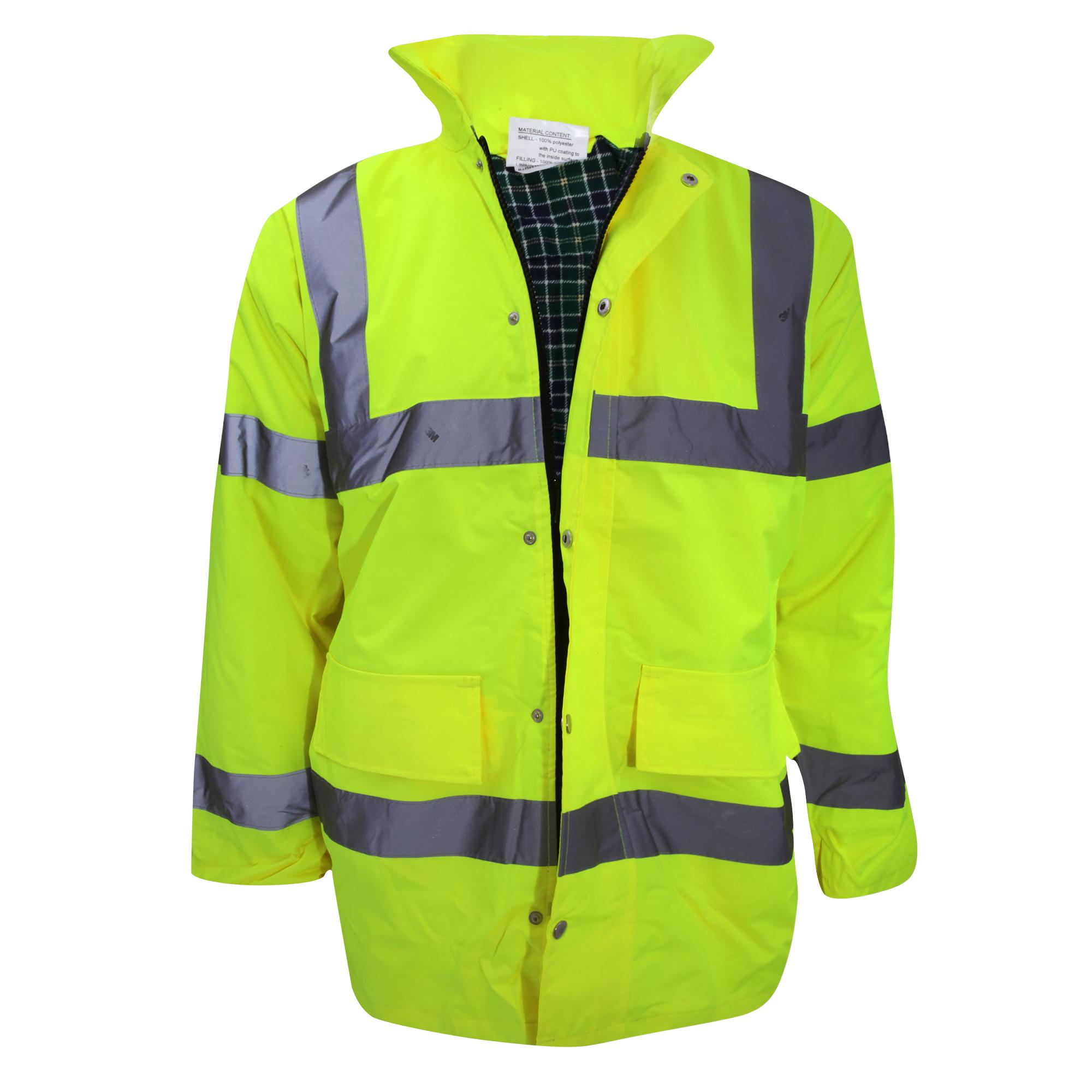 Yoko Mens Hi-Vis Contractor Jacket (3XL) (Hi-Vis Yellow)