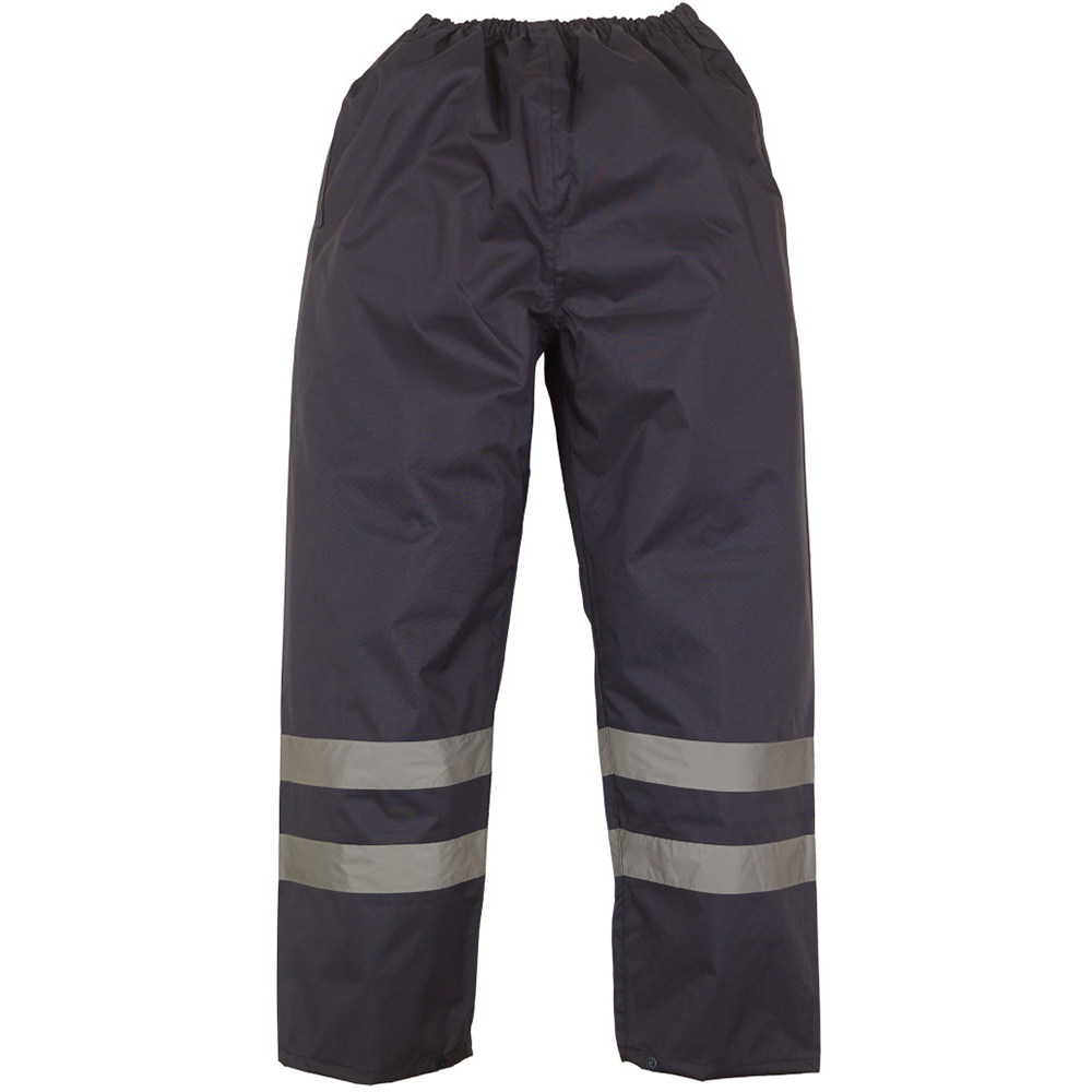 Yoko Mens Hi-Vis Waterproof Contractor Over Trousers (S) (Hi-Vis Yellow)