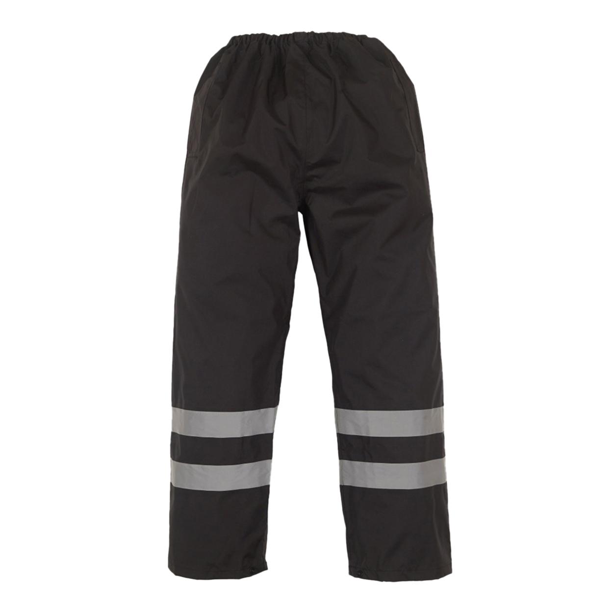 Yoko Mens Hi-Vis Waterproof Contractor Over Trousers (L) (Black)