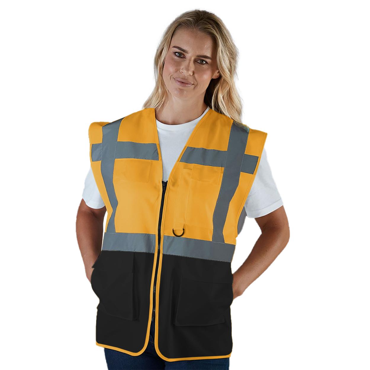 Yoko Hi-Vis Premium Executive/Manager Waistcoat / Jacket (L) (Purple)