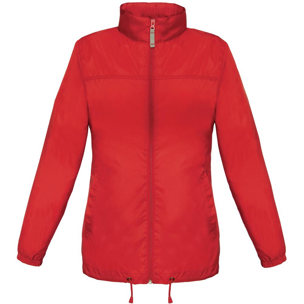 B&C Womens/Ladies Sirocco Lightweight Windproof, Showerproof & Water Repellent Jacket (2XL) (Red)