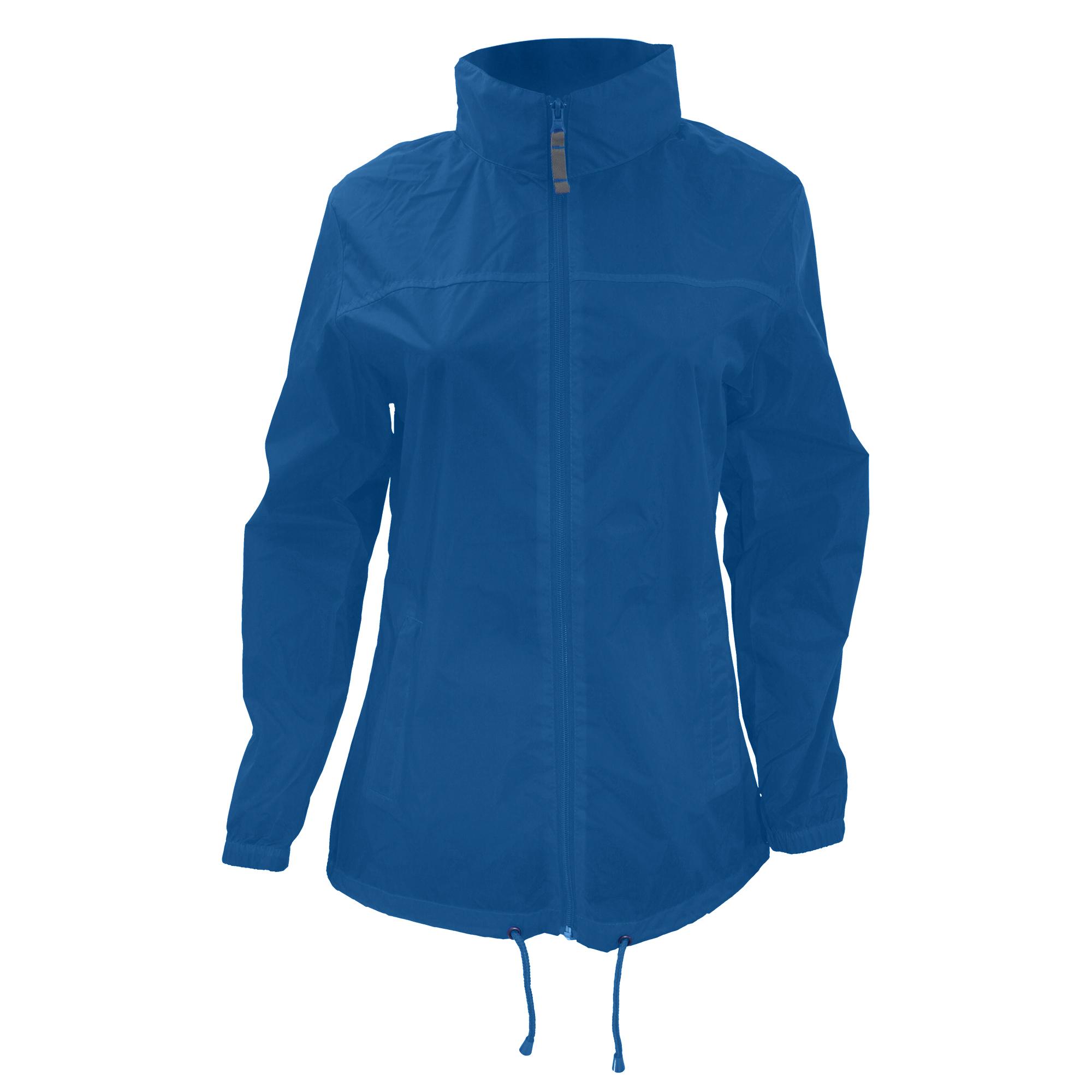 B&C Womens/Ladies Sirocco Lightweight Windproof, Showerproof & Water Repellent Jacket (S) (Royal Blue)