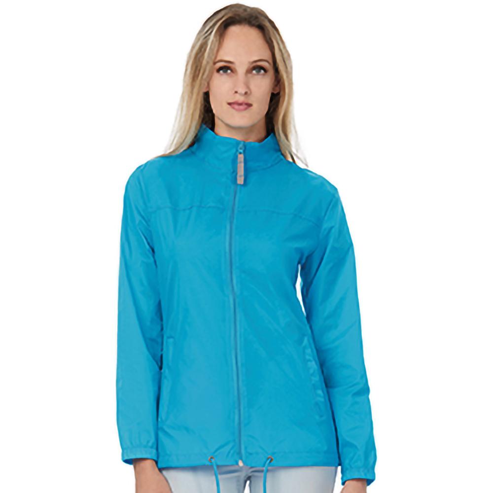 B&C Womens/Ladies Sirocco Lightweight Windproof, Showerproof & Water Repellent Jacket (2XL) (Atoll)