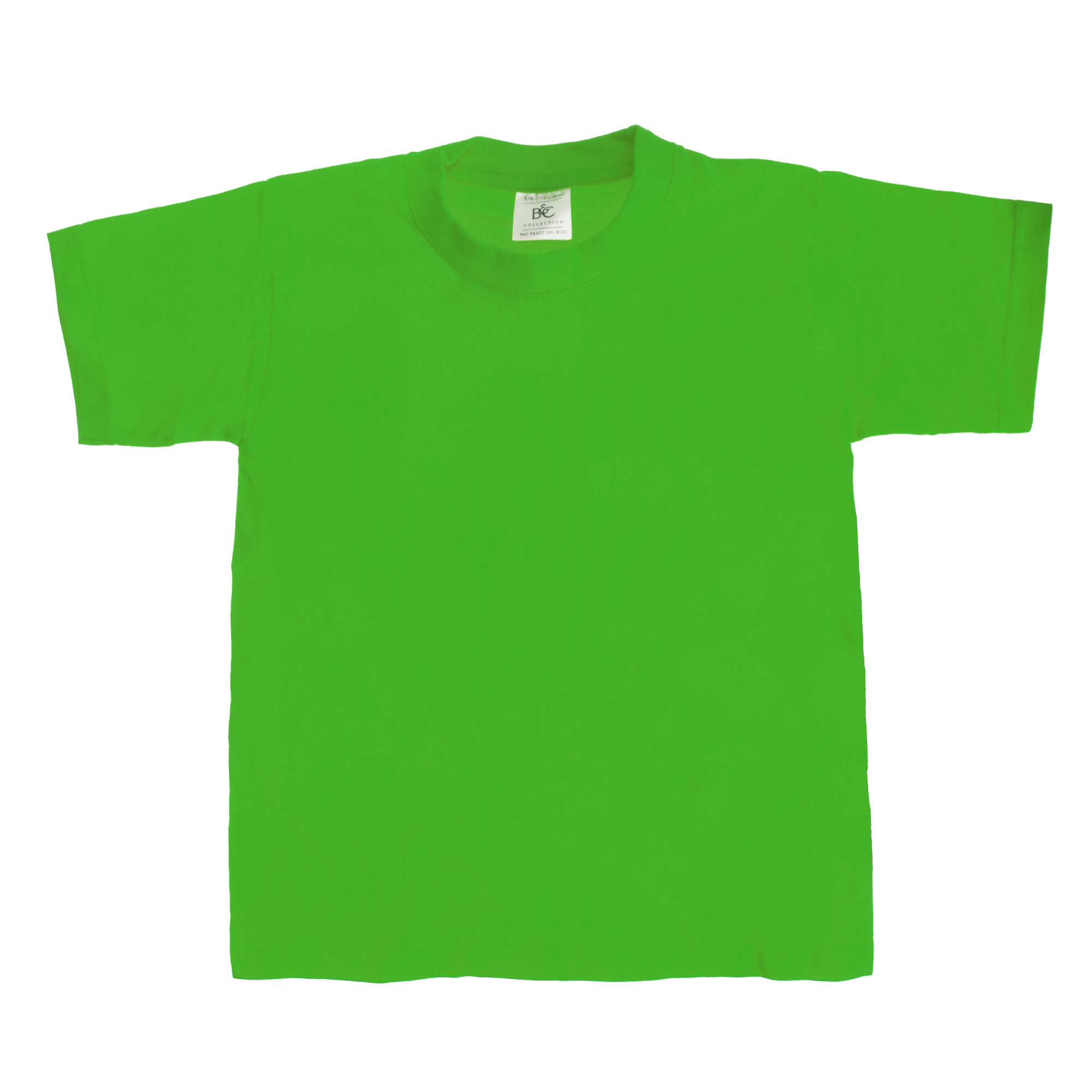 B&C Kids/Childrens Exact 190 Short Sleeved T-Shirt (7-8) (Swimming Pool)