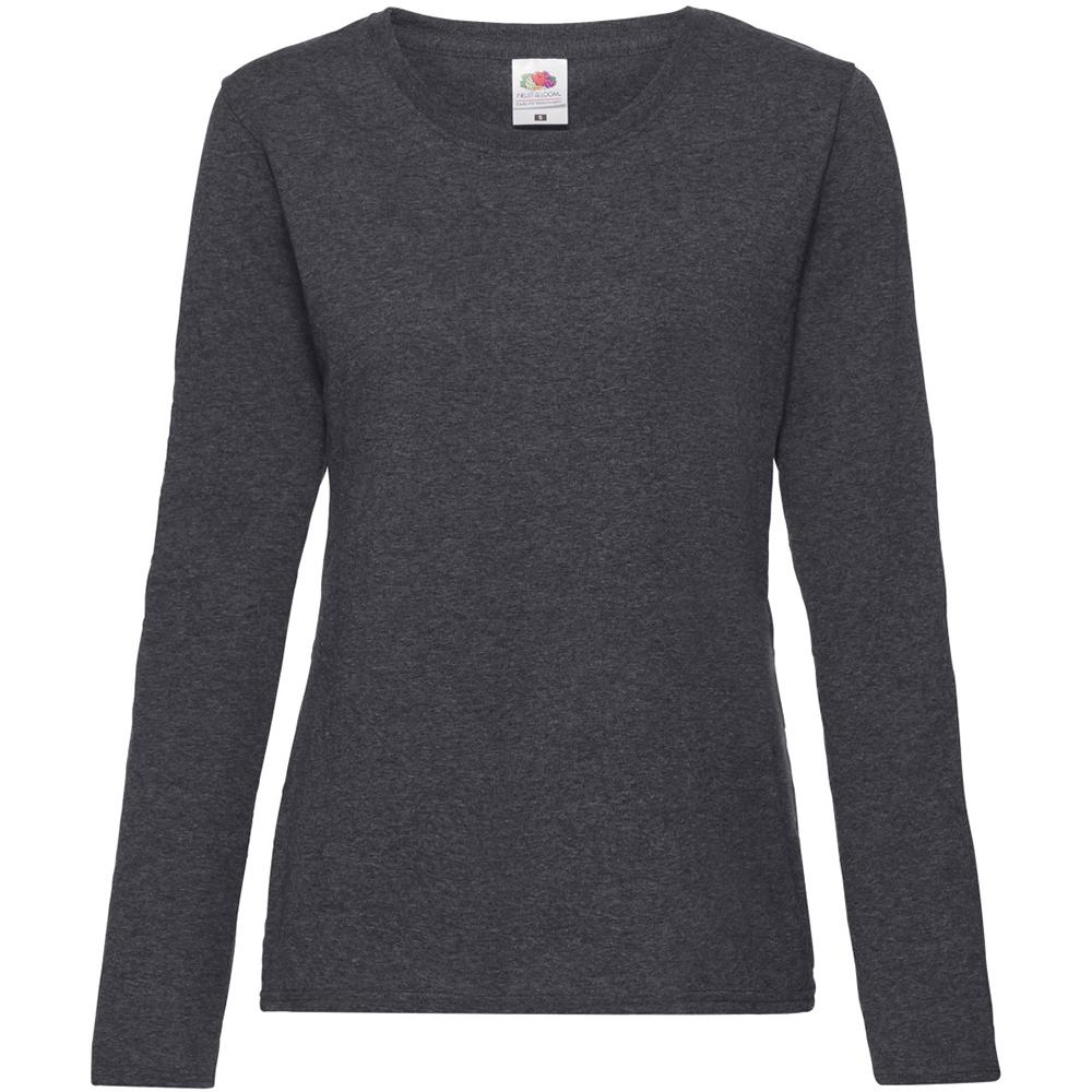 240 GSM BC2656 Fruit OF The Loom Ladies Fitted Lightweight Raglan Sweatshirt