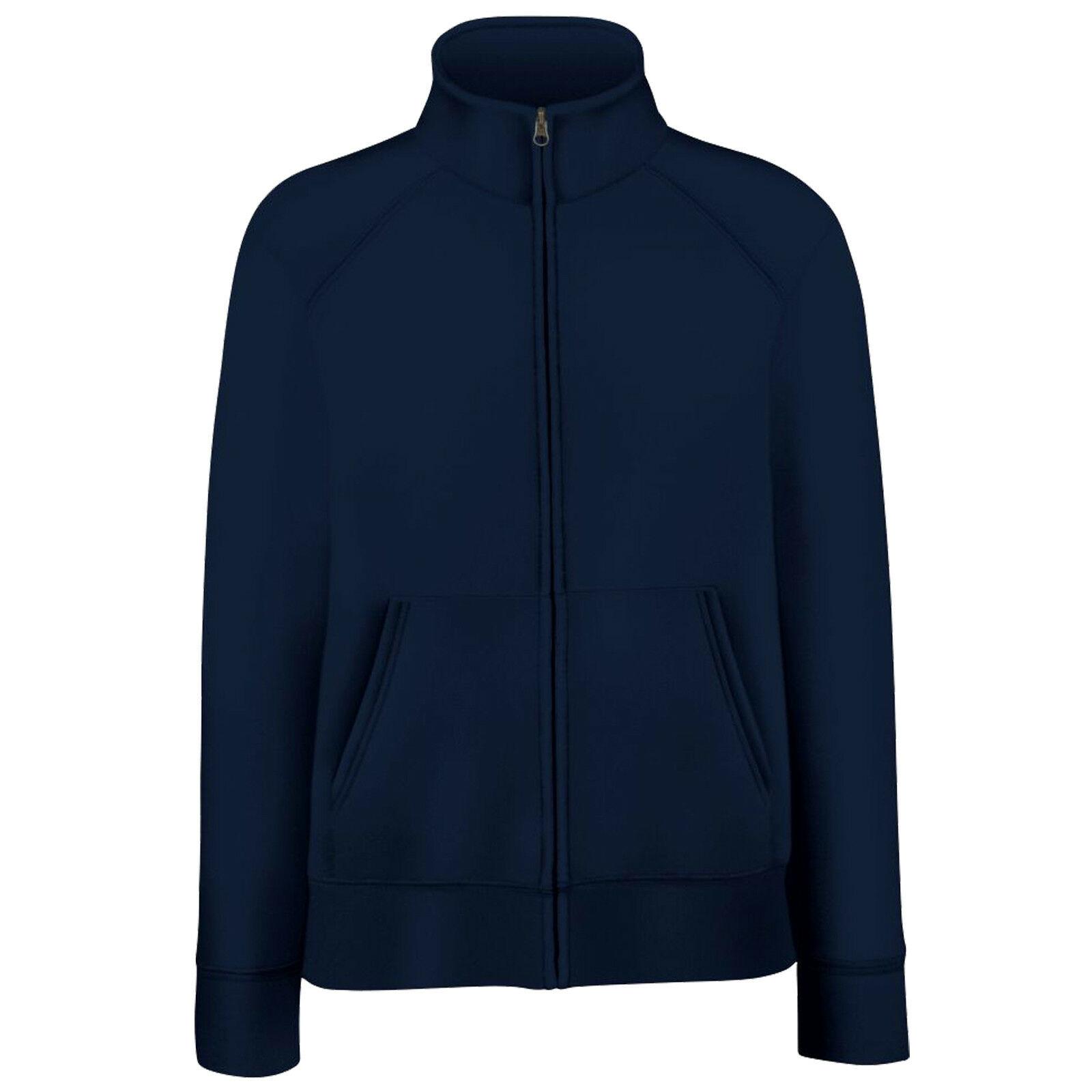 Fruit Of The Loom Ladies/Womens Lady-Fit Fleece Sweatshirt Jacket (XS) (Deep Navy)