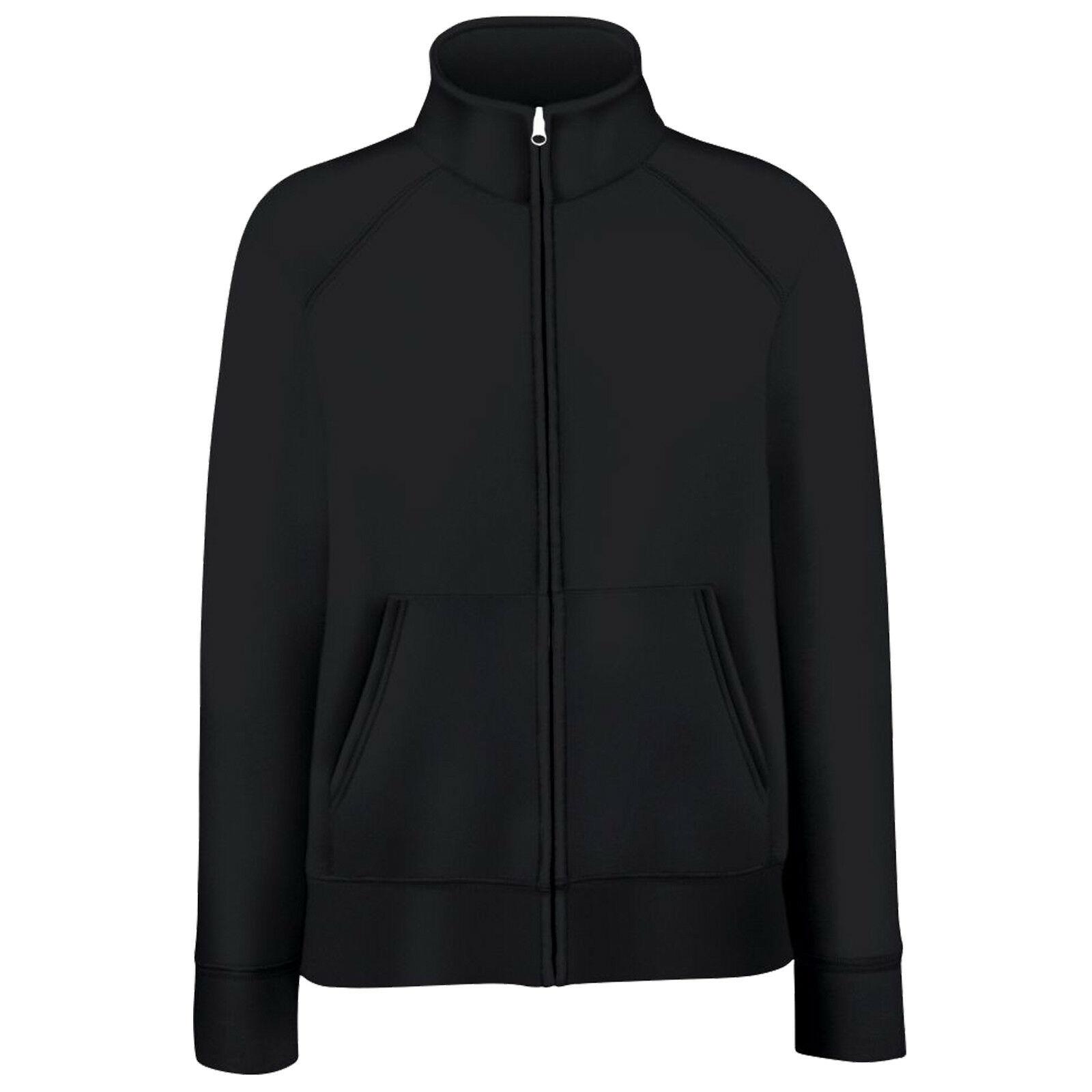 Fruit Of The Loom Ladies/Womens Lady-Fit Fleece Sweatshirt Jacket (2XL) (Black)