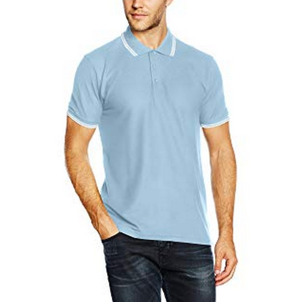 Fruit-Of-The-Loom-Mens-Tipped-Short-Sleeve-Polo-Shirt-BC1378