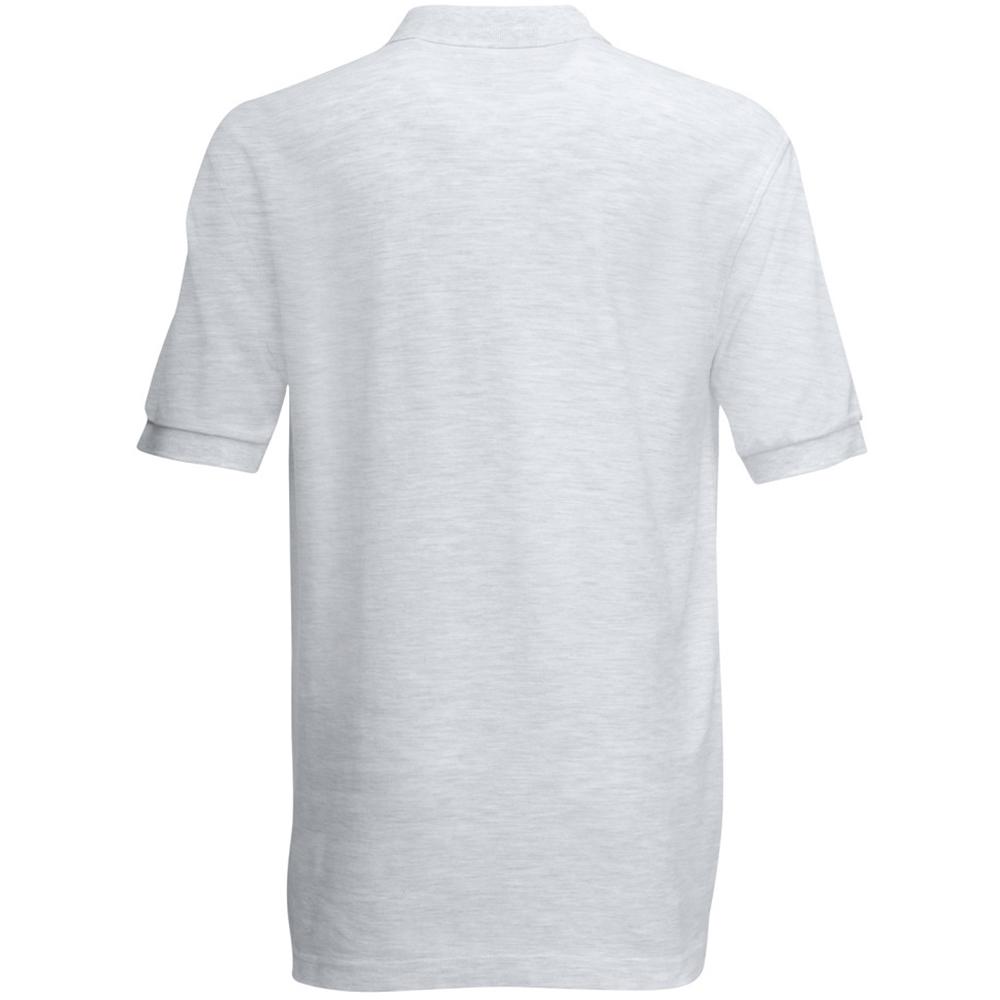 Fruit Of The Loom Premium Mens Short Sleeve Polo Shirt (XL) (Heather Grey)