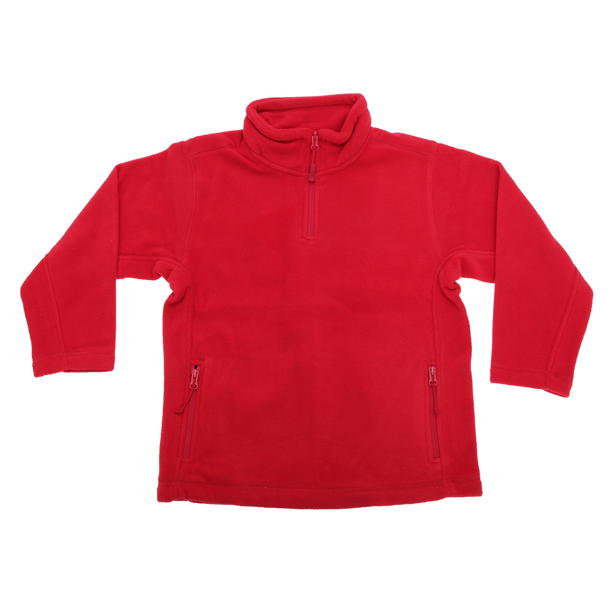 Jerzees-Schoolgear-Childrens-Kids-Unisex-1-4-Zip-Outdoor-Fleece-Top-BC1437
