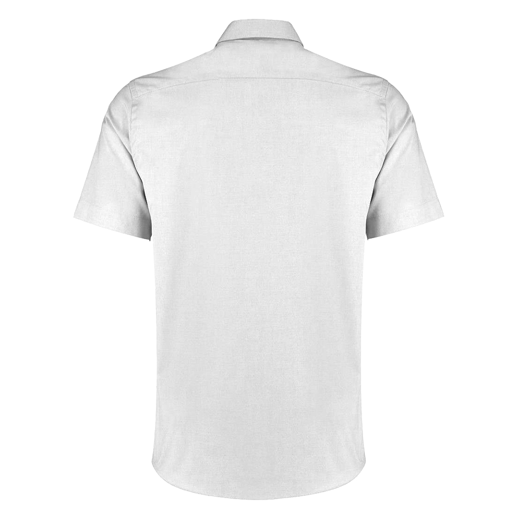 Kustom Kit Mens Short Sleeve Tailored Fit Premium Oxford Shirt (15inch) (White)