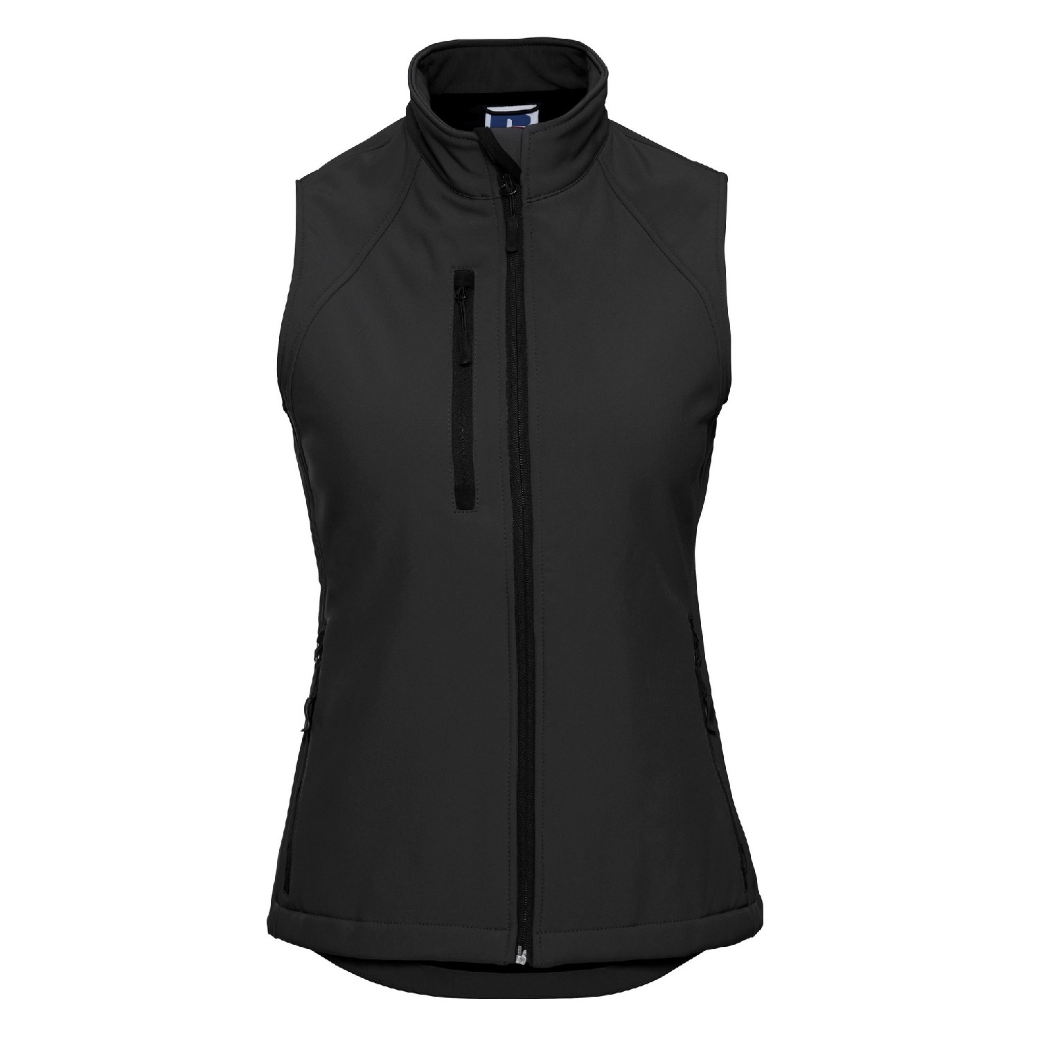 Russell Ladies/Womens Soft Shell Breathable Gilet Jacket (S) (Black)