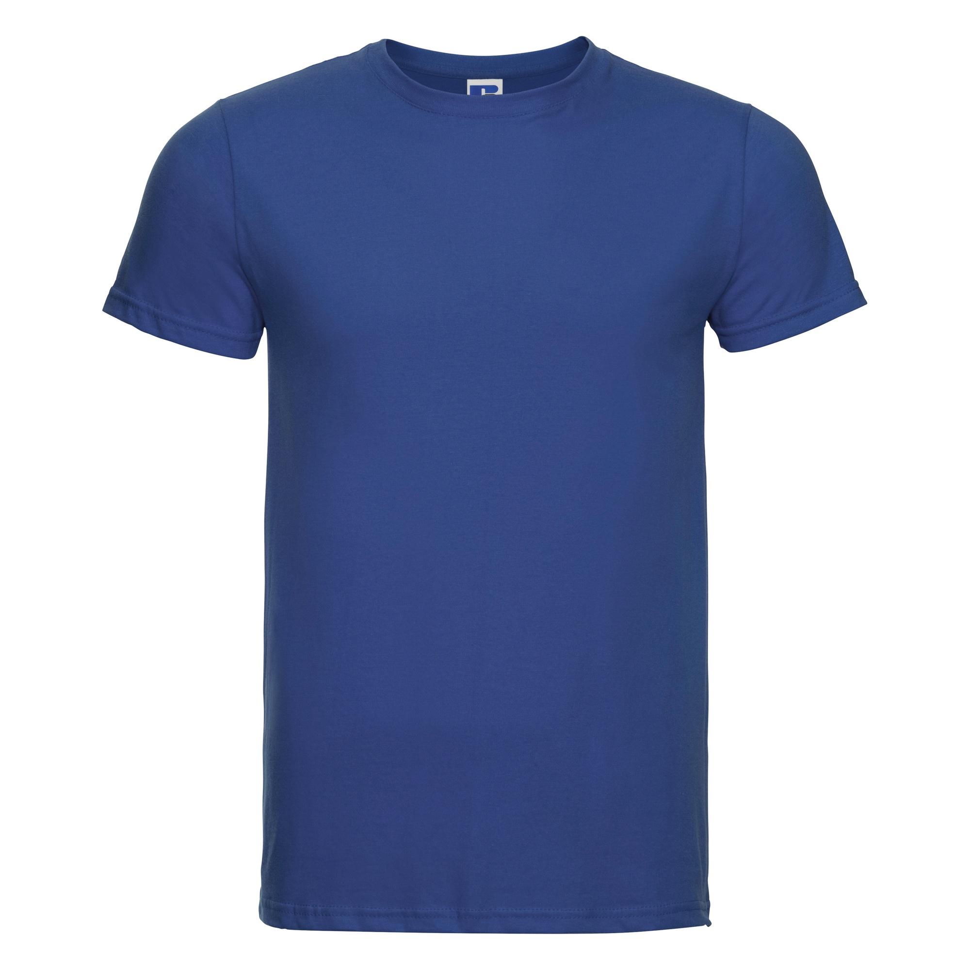 Russell-Mens-Slim-Plain-Blank-100-Cotton-Short-Sleeve-T-Shirt-Tee-BC1515 thumbnail 22