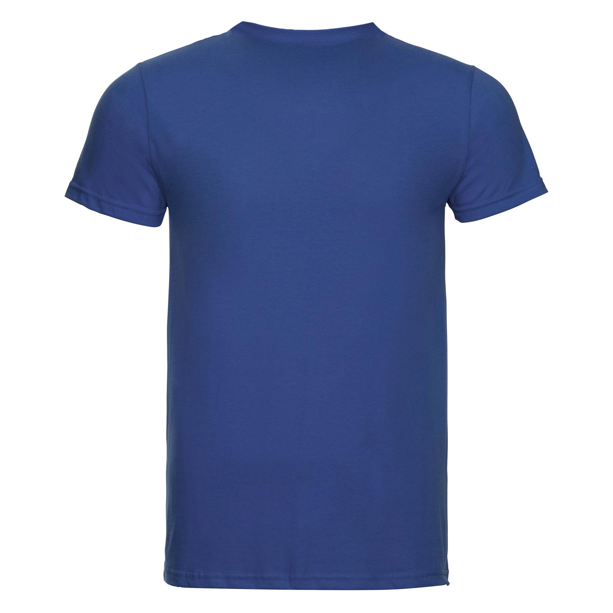 Russell-Mens-Slim-Plain-Blank-100-Cotton-Short-Sleeve-T-Shirt-Tee-BC1515 thumbnail 23