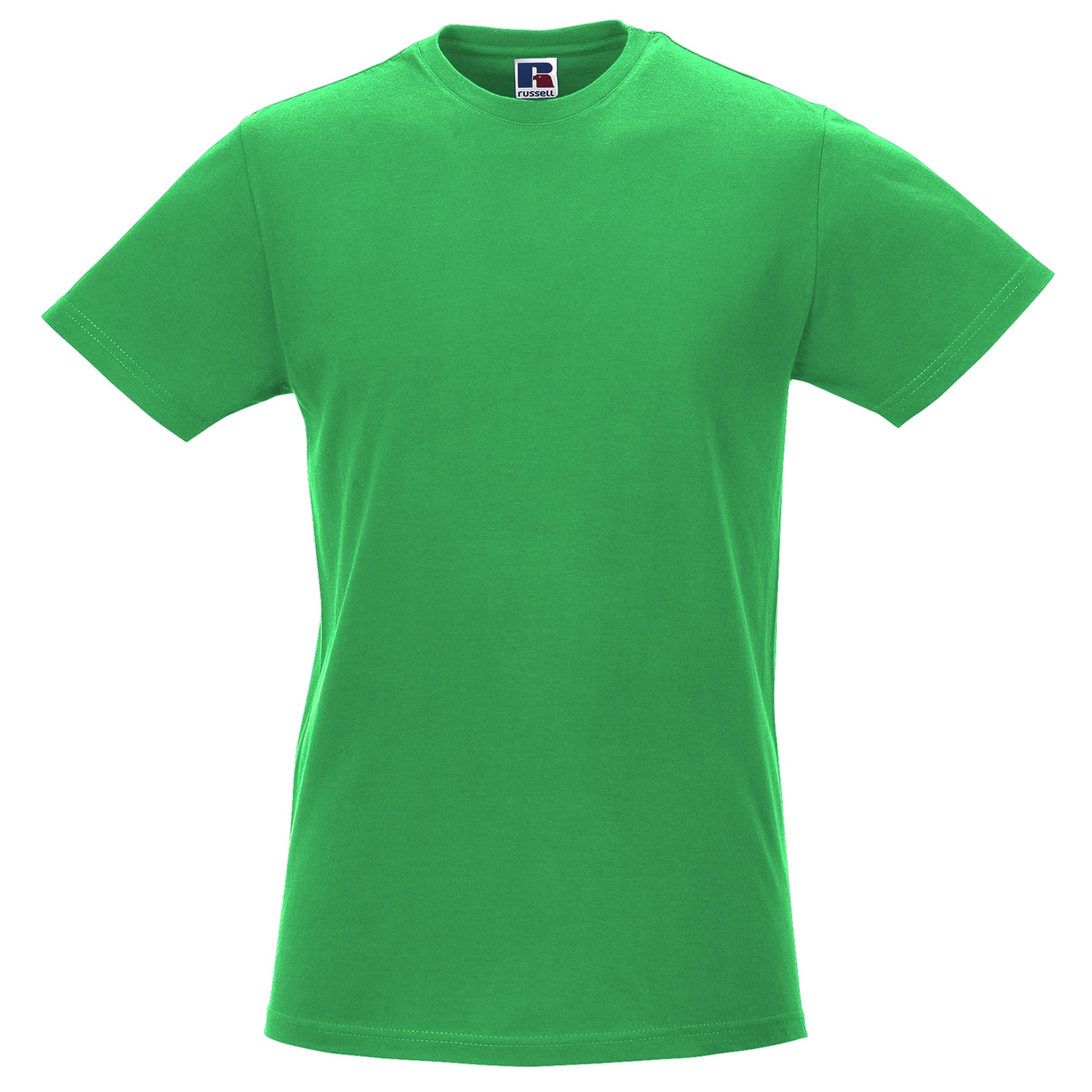 Russell-Mens-Slim-Plain-Blank-100-Cotton-Short-Sleeve-T-Shirt-Tee-BC1515 thumbnail 25