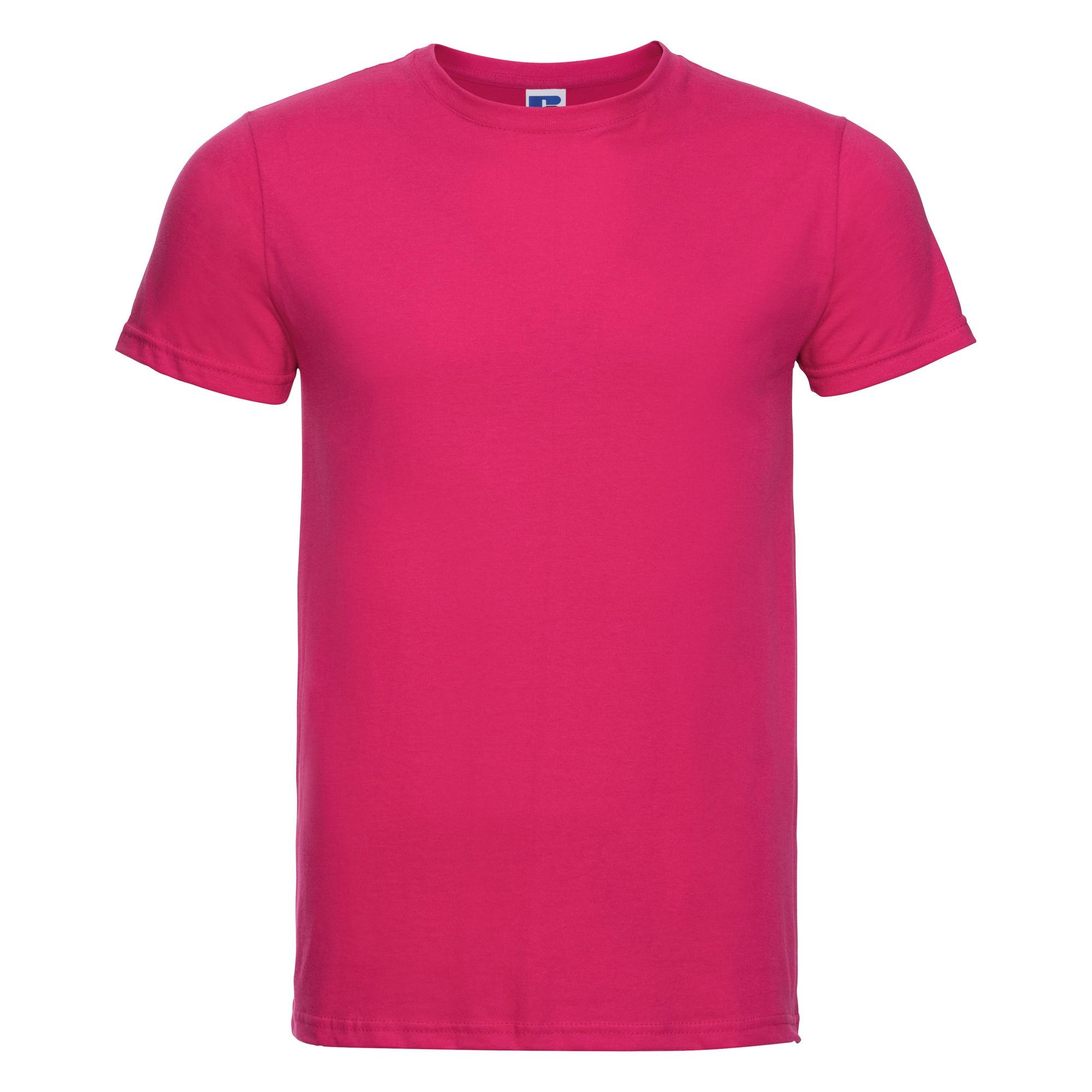 Russell-Mens-Slim-Plain-Blank-100-Cotton-Short-Sleeve-T-Shirt-Tee-BC1515 thumbnail 26