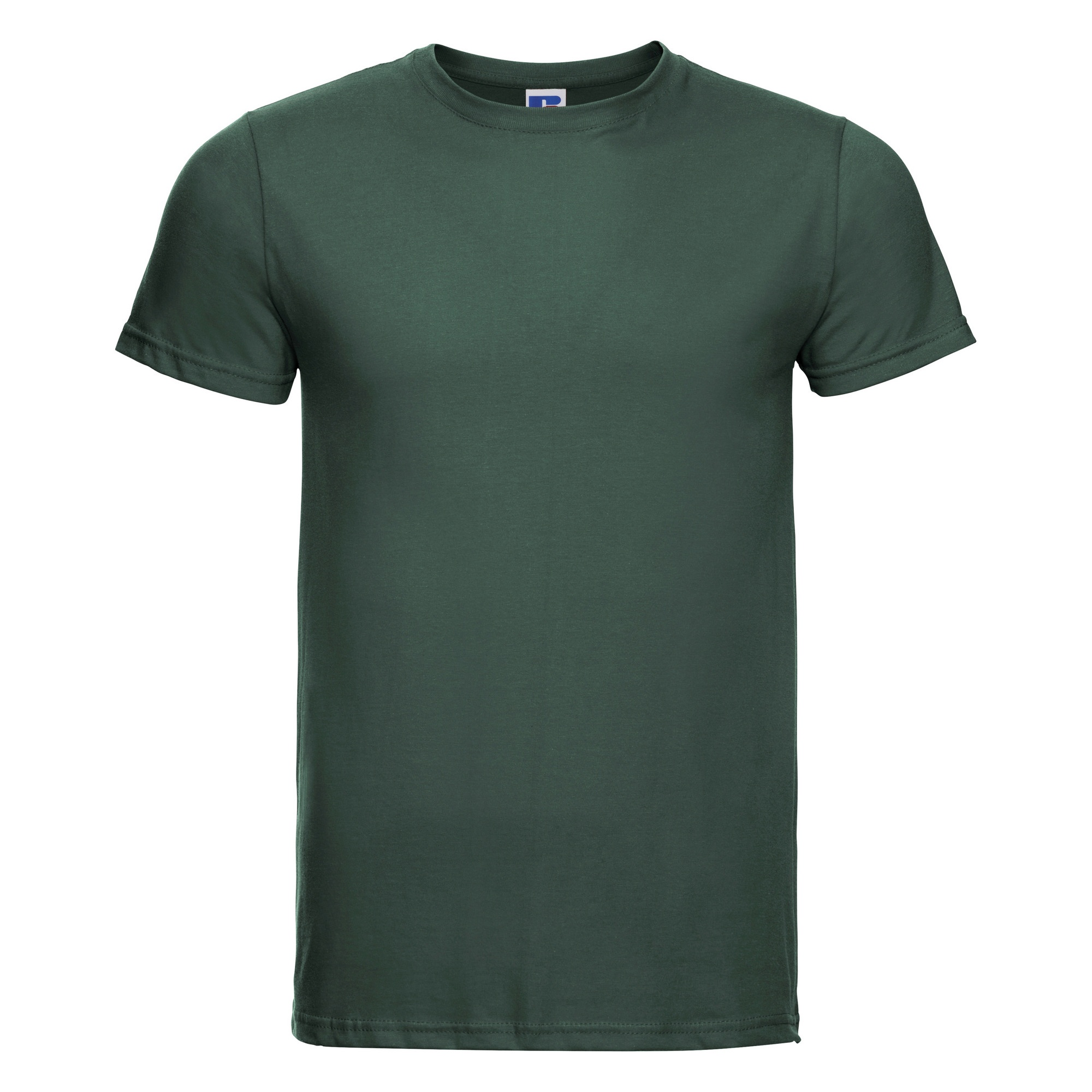 Russell-Mens-Slim-Plain-Blank-100-Cotton-Short-Sleeve-T-Shirt-Tee-BC1515 thumbnail 4