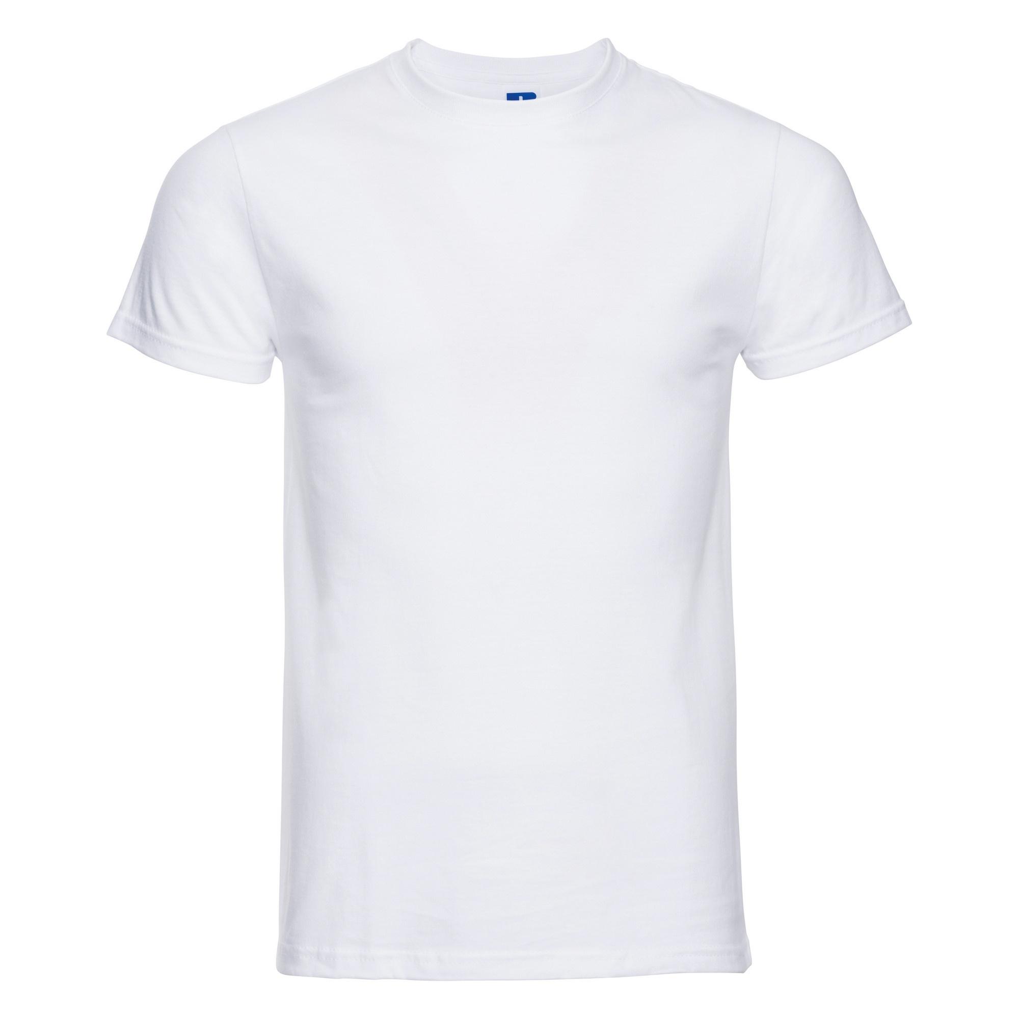 Russell-Mens-Slim-Plain-Blank-100-Cotton-Short-Sleeve-T-Shirt-Tee-BC1515 thumbnail 6