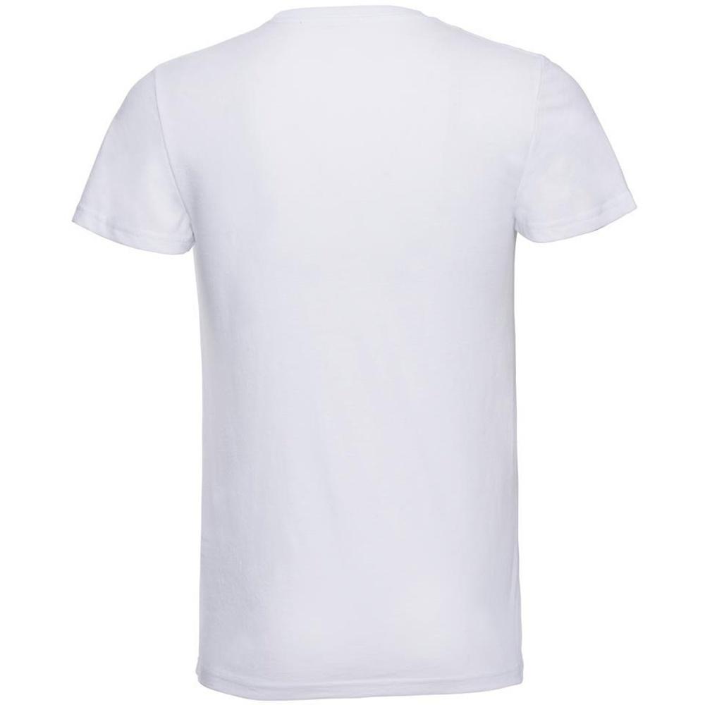 Russell-Mens-Slim-Plain-Blank-100-Cotton-Short-Sleeve-T-Shirt-Tee-BC1515 thumbnail 7