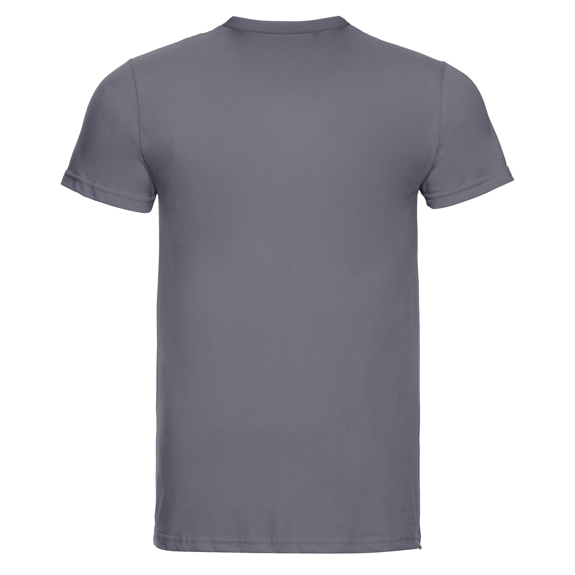 Russell-Mens-Slim-Plain-Blank-100-Cotton-Short-Sleeve-T-Shirt-Tee-BC1515 thumbnail 14