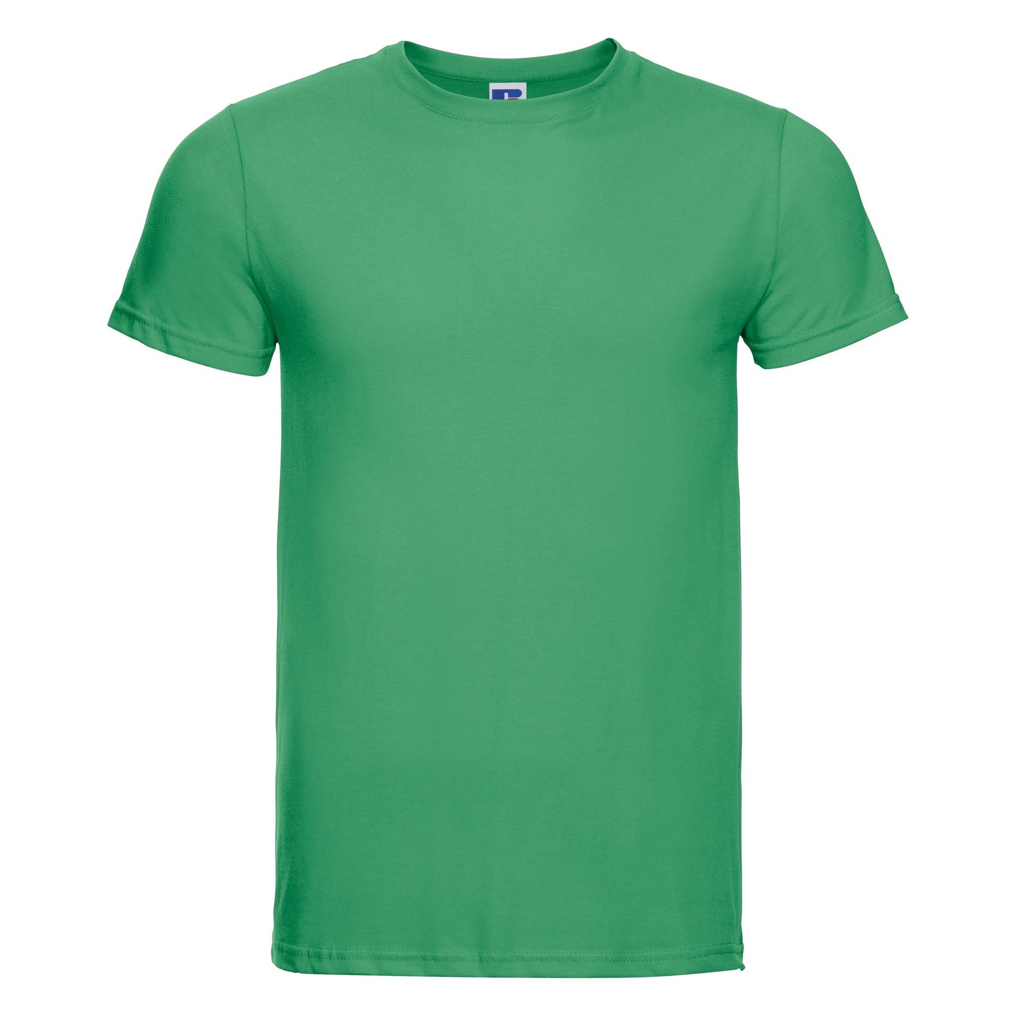 Russell-Mens-Slim-Plain-Blank-100-Cotton-Short-Sleeve-T-Shirt-Tee-BC1515 thumbnail 16