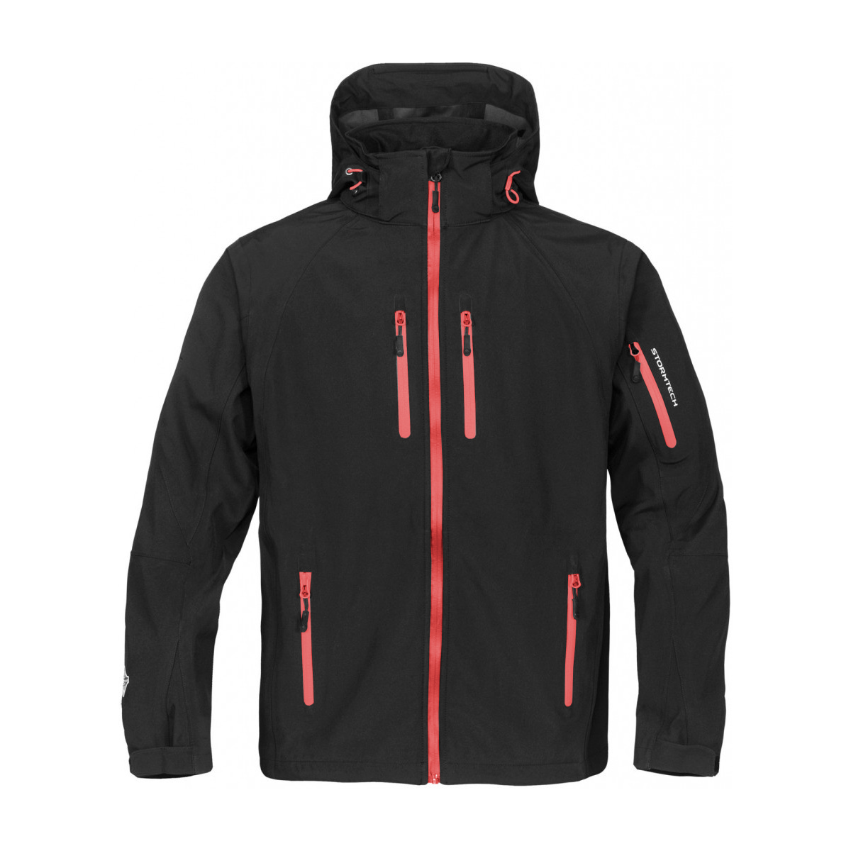 Stormtech Mens Expedition Softshell Breathable Waterproof Jacket (2XL) (Black/Red)