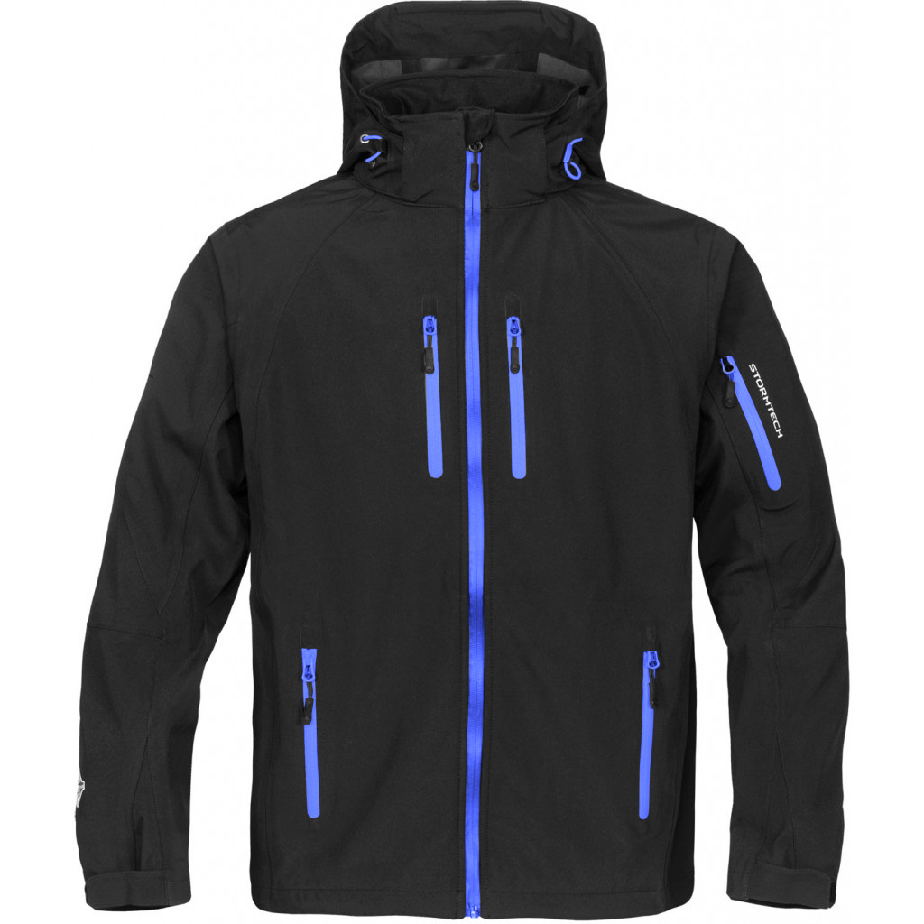 Stormtech Mens Expedition Softshell Breathable Waterproof Jacket (M) (Black/Blue)
