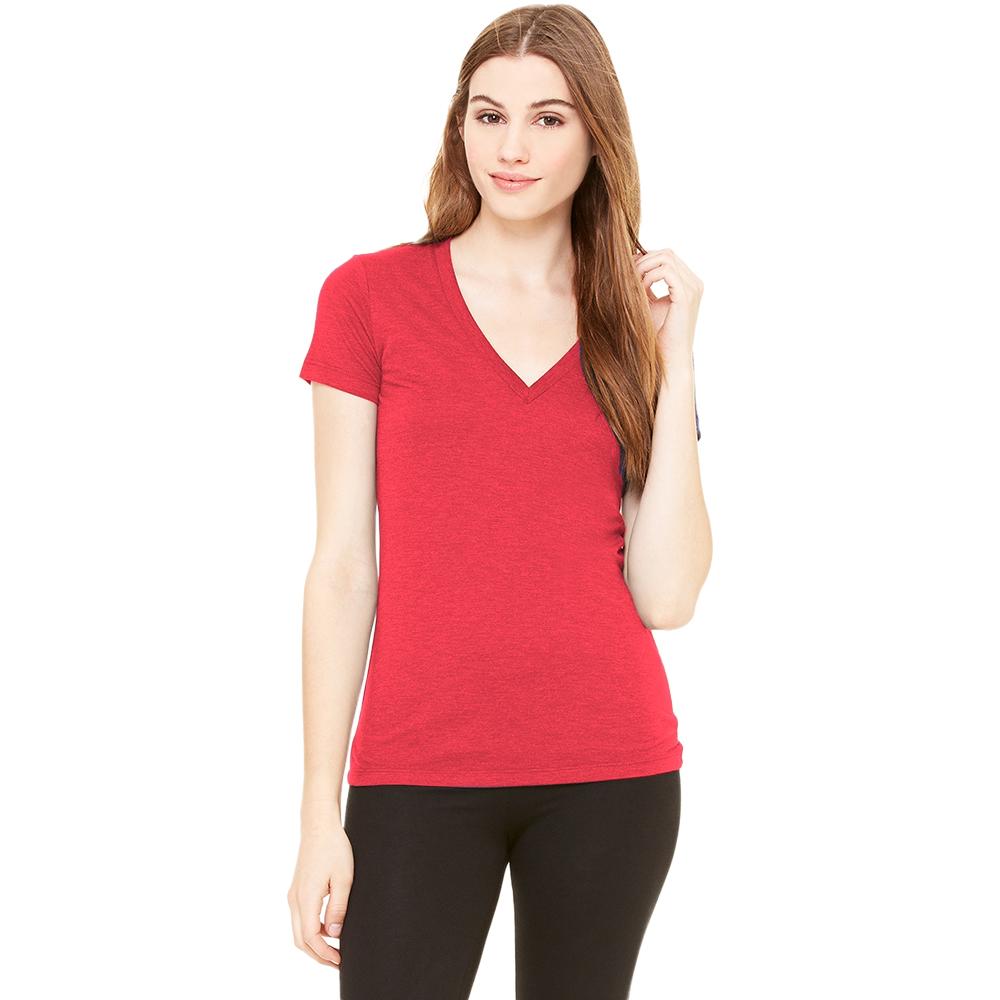 Bella Ladies/Womens Triblend Crew Neck T-Shirt (L) (Aqua Triblend)