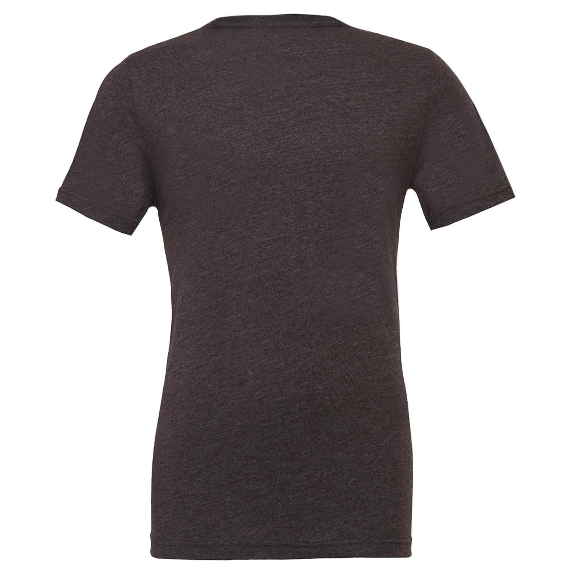 Canvas Unisex Jersey Crew Neck T-Shirt / Mens Short Sleeve T-Shirt (M) (Heather Blue)