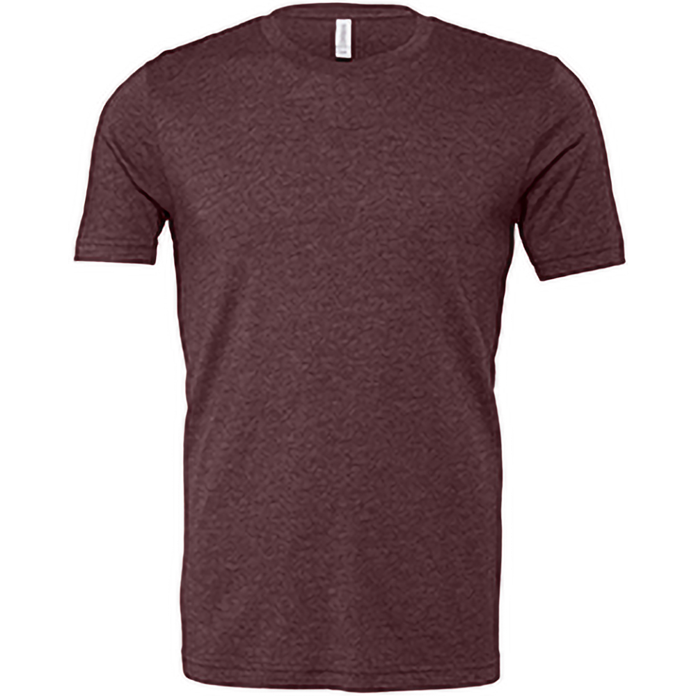 Canvas Unisex Jersey Crew Neck T-Shirt / Mens Short Sleeve T-Shirt (2XL) (Heather Maroon)