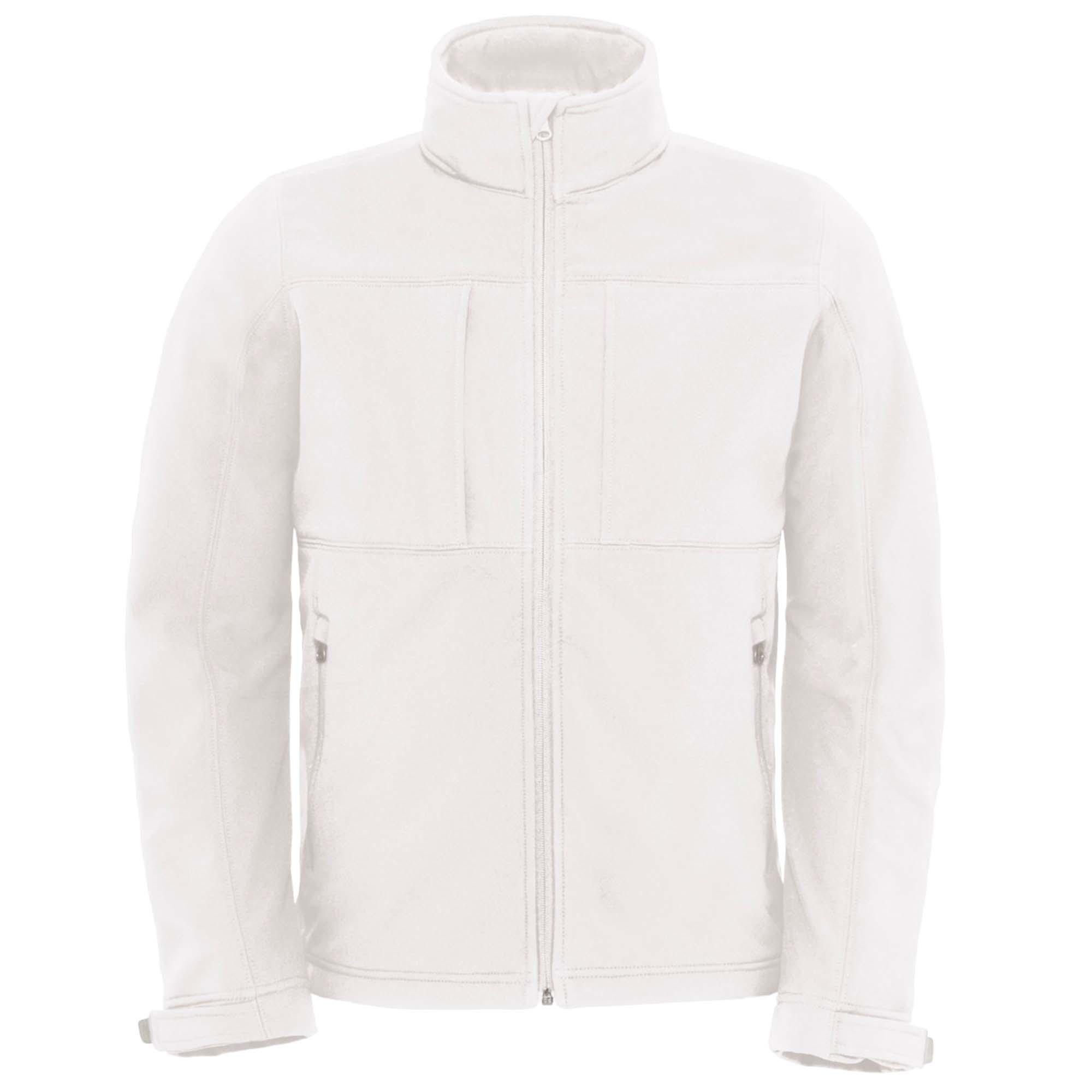 B&C Mens Hooded Softshell Breathable, Waterproof & Windproof Jacket (Fleece Lining) (3XL) (Dark Grey)