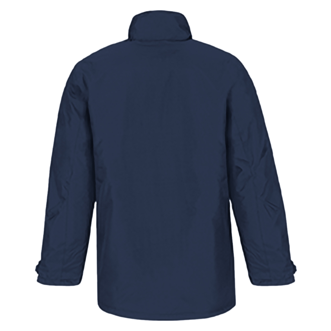 B&C Mens Real+ Premium Windproof Thermo-Isolated Jacket (Waterproof PU Coating) (S) (Navy Blue)