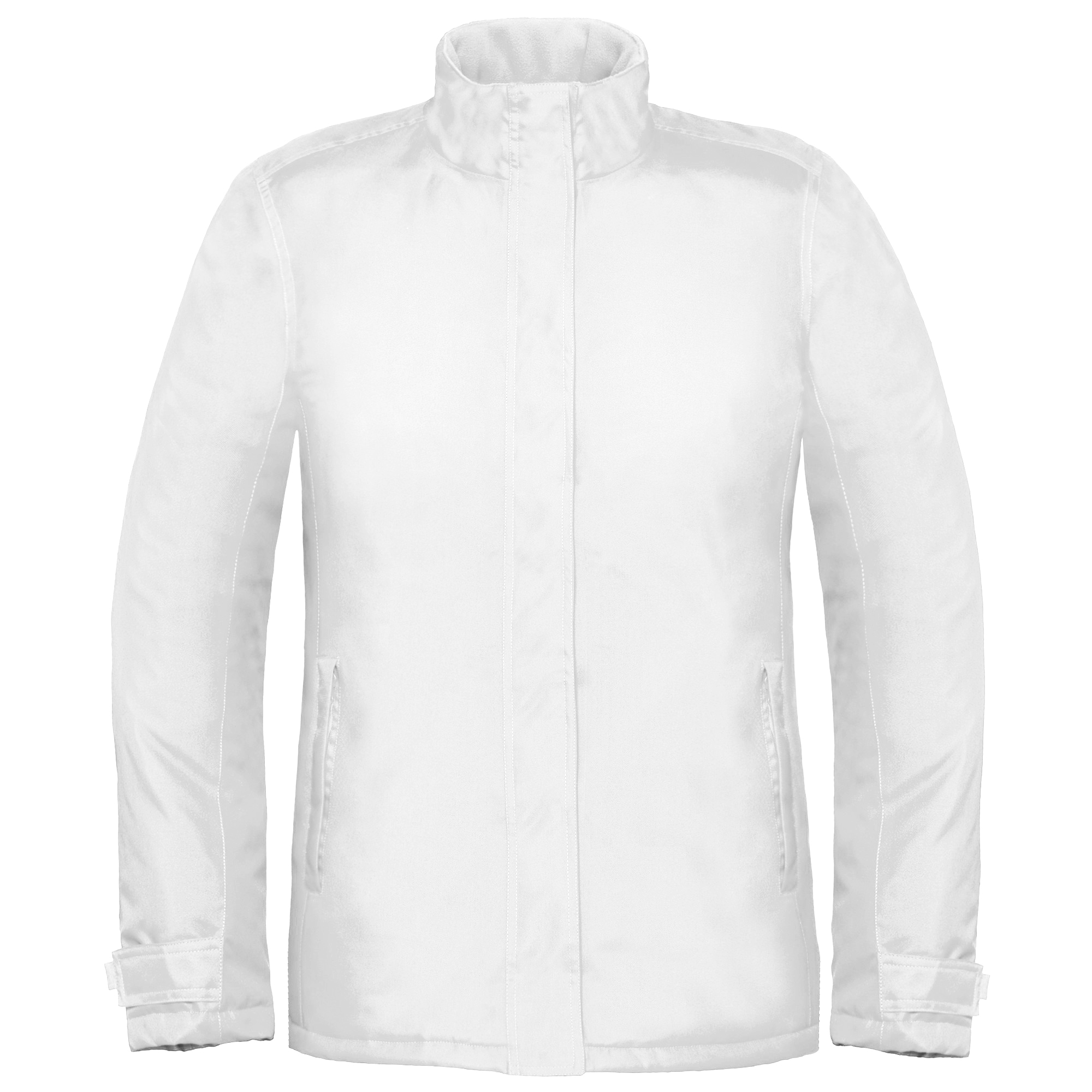 B&C Womens/Ladies Premium Real+ Windproof Waterproof Thermo-Isolated Jacket (S) (White)