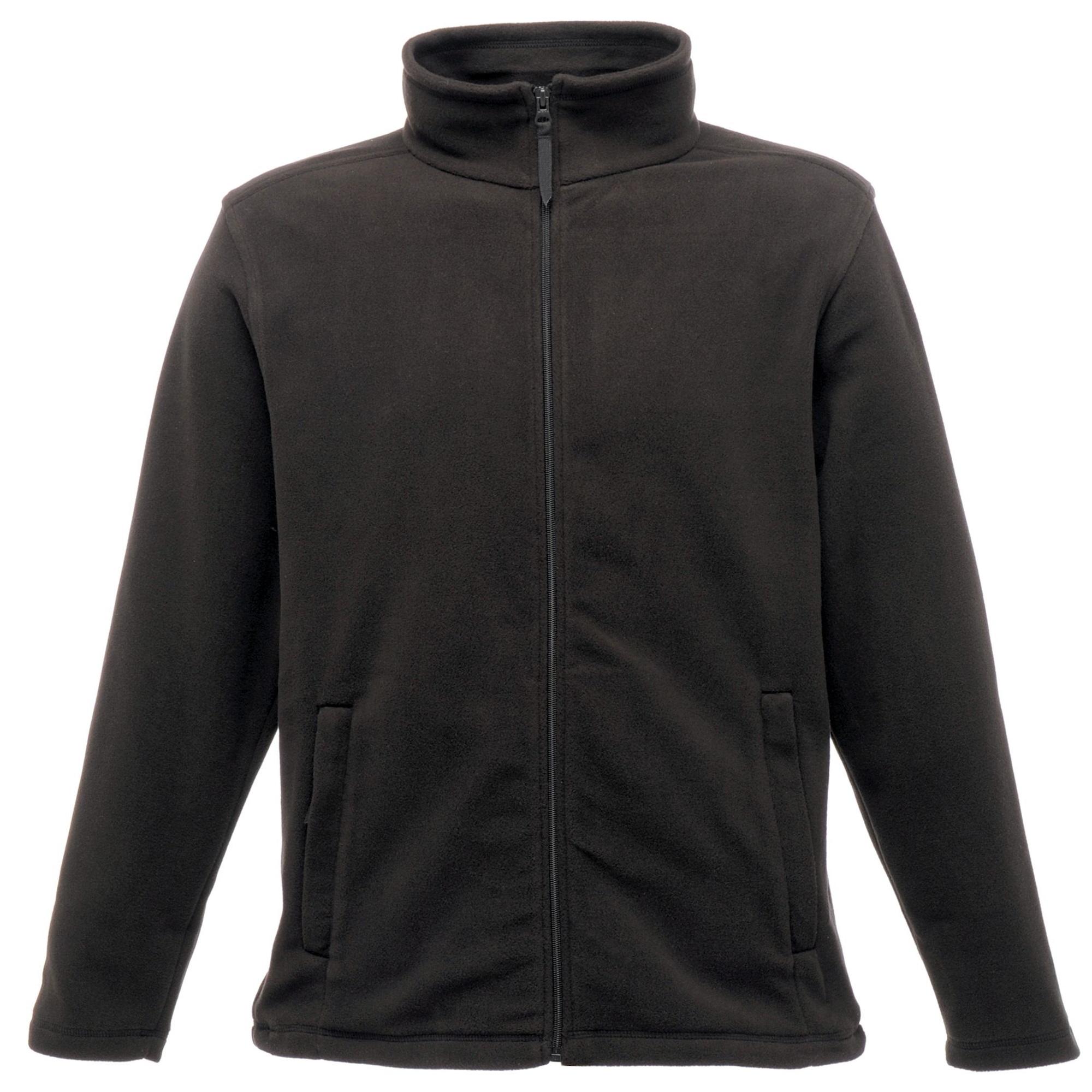 Regatta Mens Plain Micro Fleece Full Zip Jacket (Layer Lite) (M) (Black)