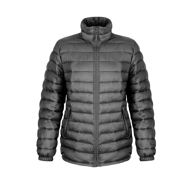 Result Ladies/Womens Ice Bird Padded Jacket (Water Repellent & Windproof) (S) (Black)