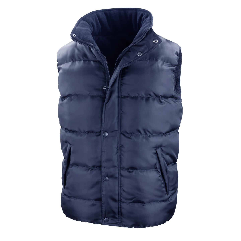 Result Mens Core Nova Lux Padded Fleece Lined Bodywarmer Jacket (S) (Navy Blue)