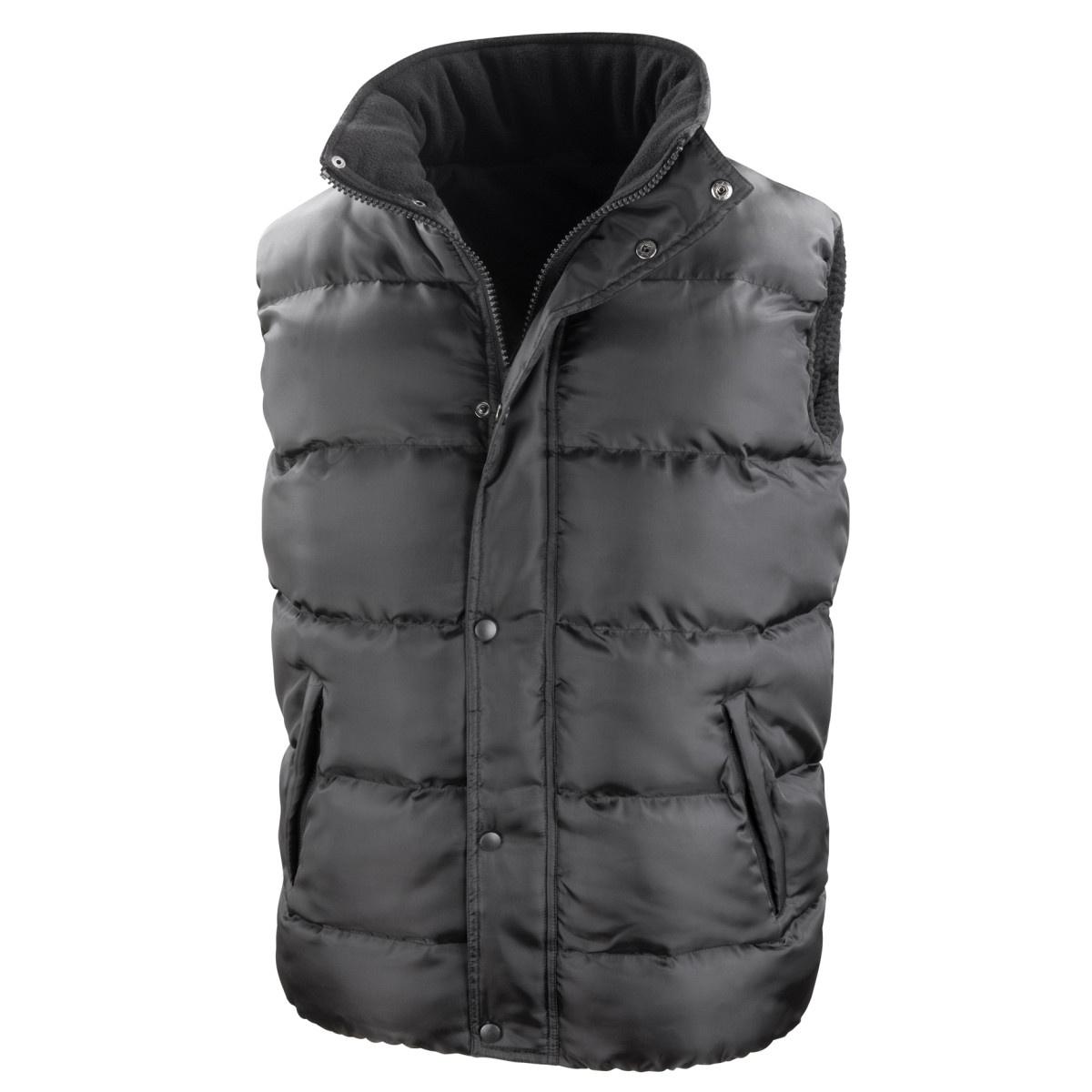 Result Mens Core Nova Lux Padded Fleece Lined Bodywarmer Jacket (3XL) (Black)