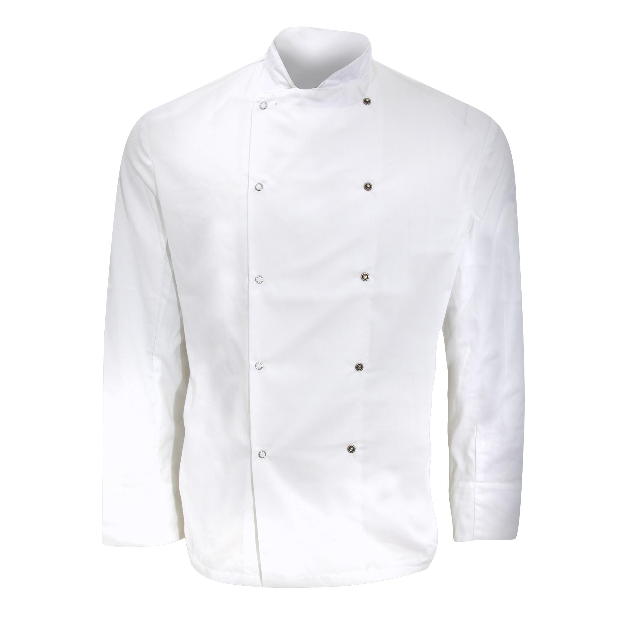 Dennys Mens Long Sleeve Chefs Jacket / Chefswear (XS) (White)