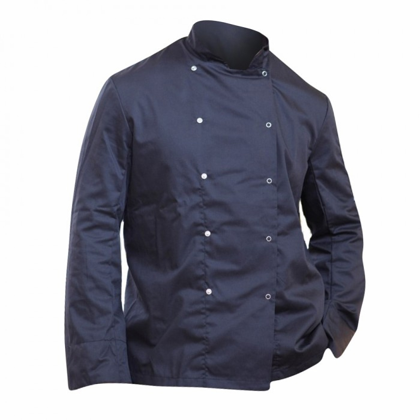 Dennys Mens Economy Long Sleeve Chefs Jacket / Chefswear (3XL) (Black)