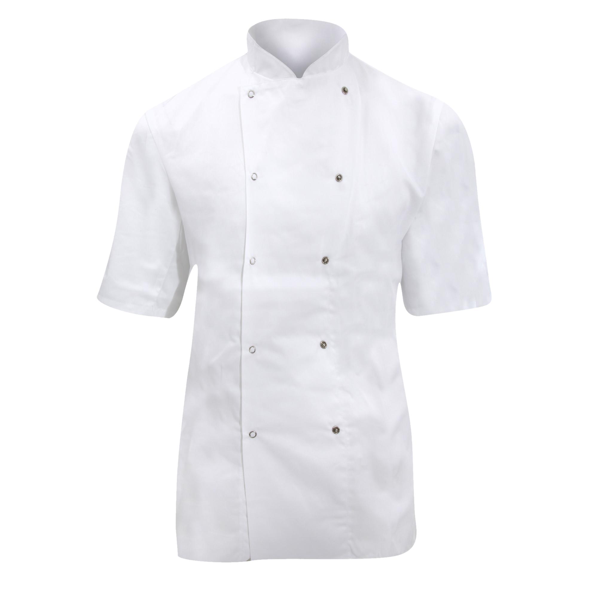 Dennys Ladies/Womens Short Sleeve Chefs Jacket / Chefswear (S) (White)