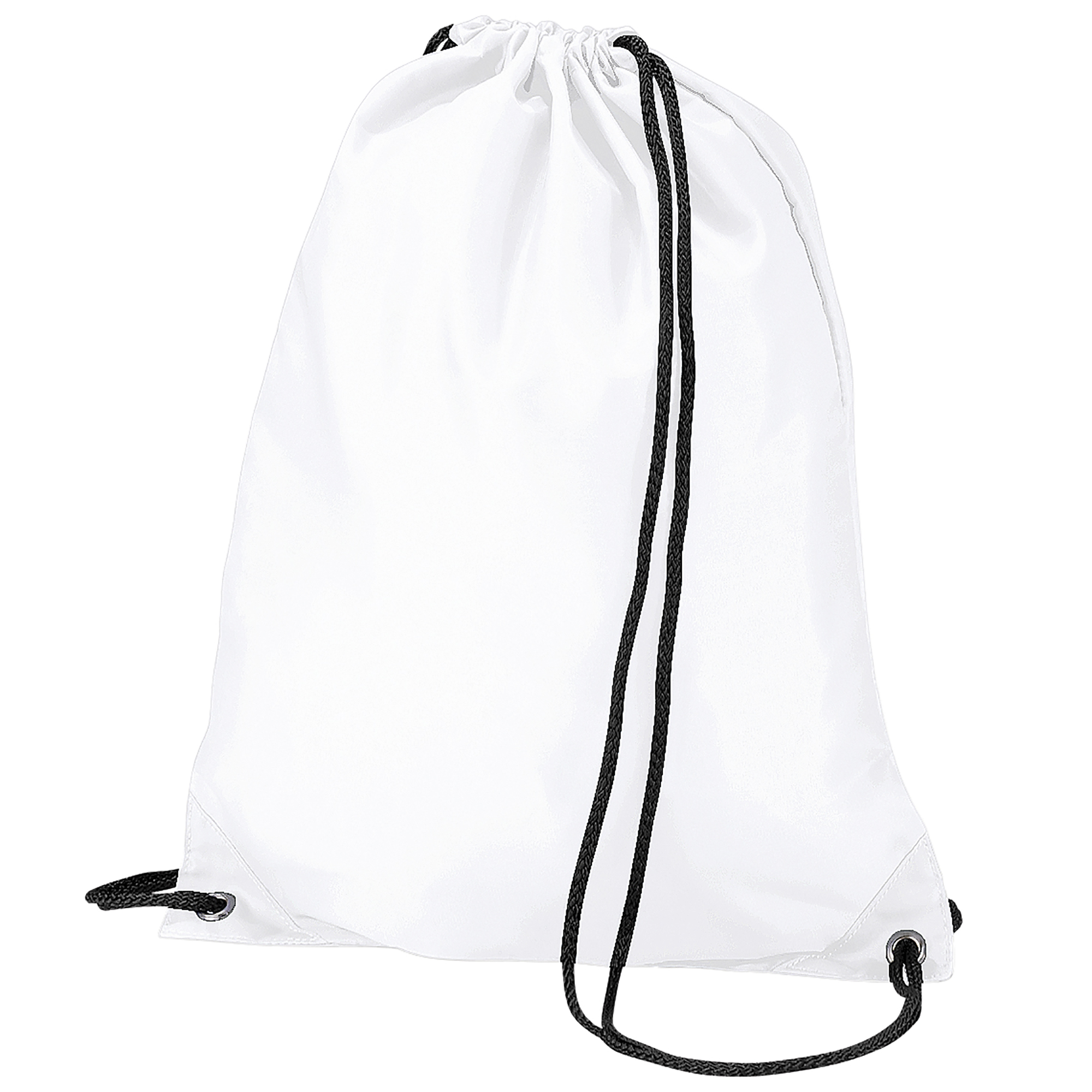BagBase Budget Water Resistant Sports Gymsac Drawstring Bag (11 Litres) (One Size) (White)