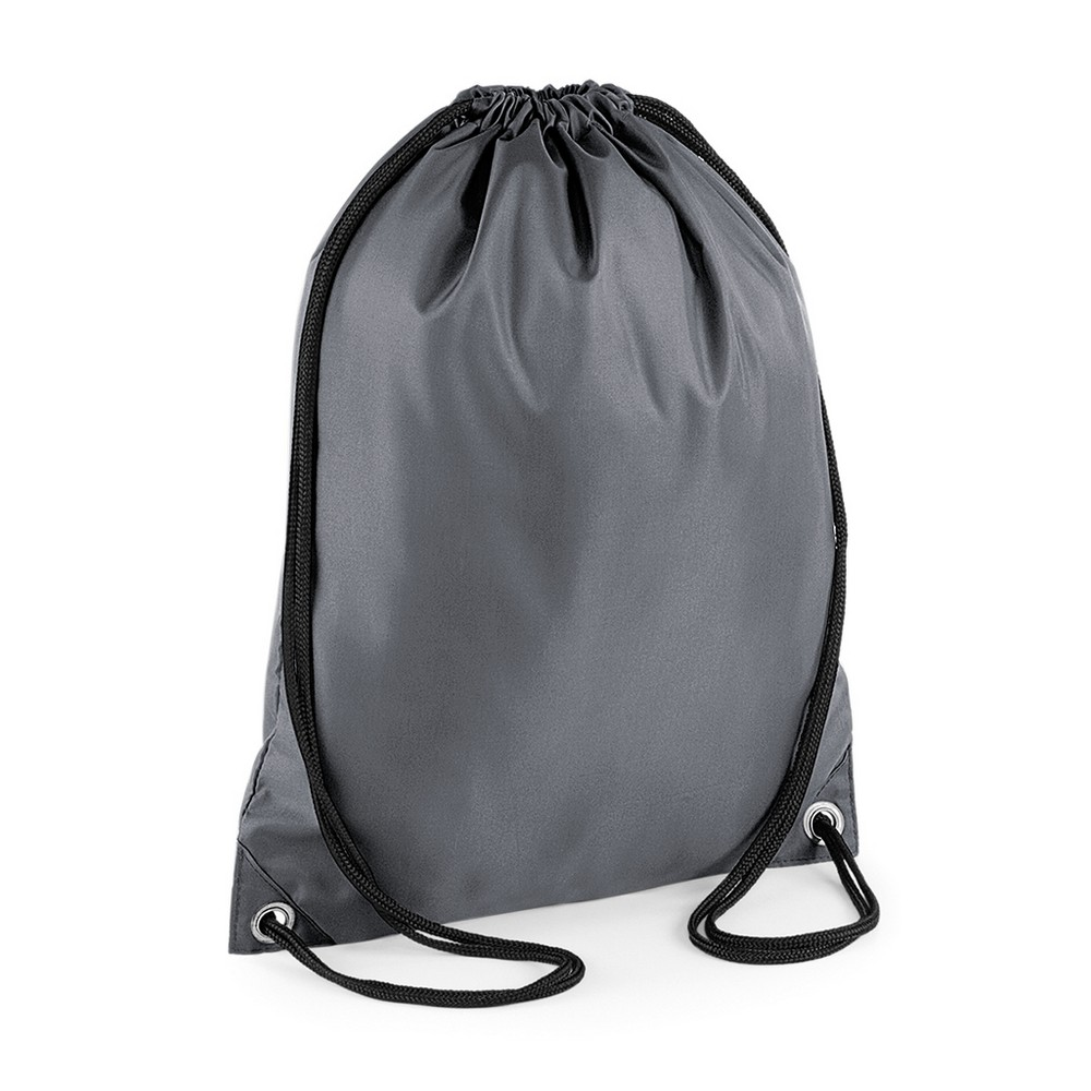 BagBase Budget Water Resistant Sports Gymsac Drawstring Bag (11 Litres) (One Size) (Graphite)