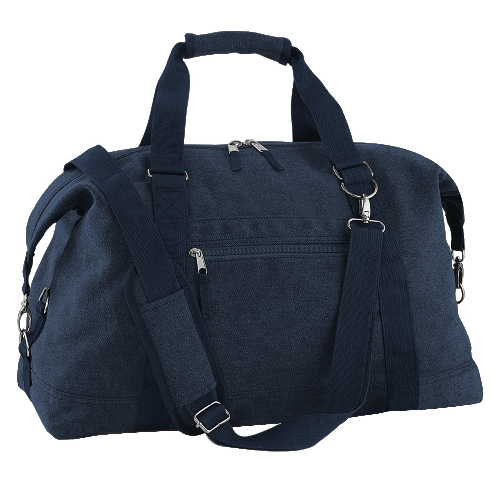 Bagbase Vintage Canvas Weekender / Holdall Carry Bag (30 Litres) (One Size) (Vintage Oxford Navy)