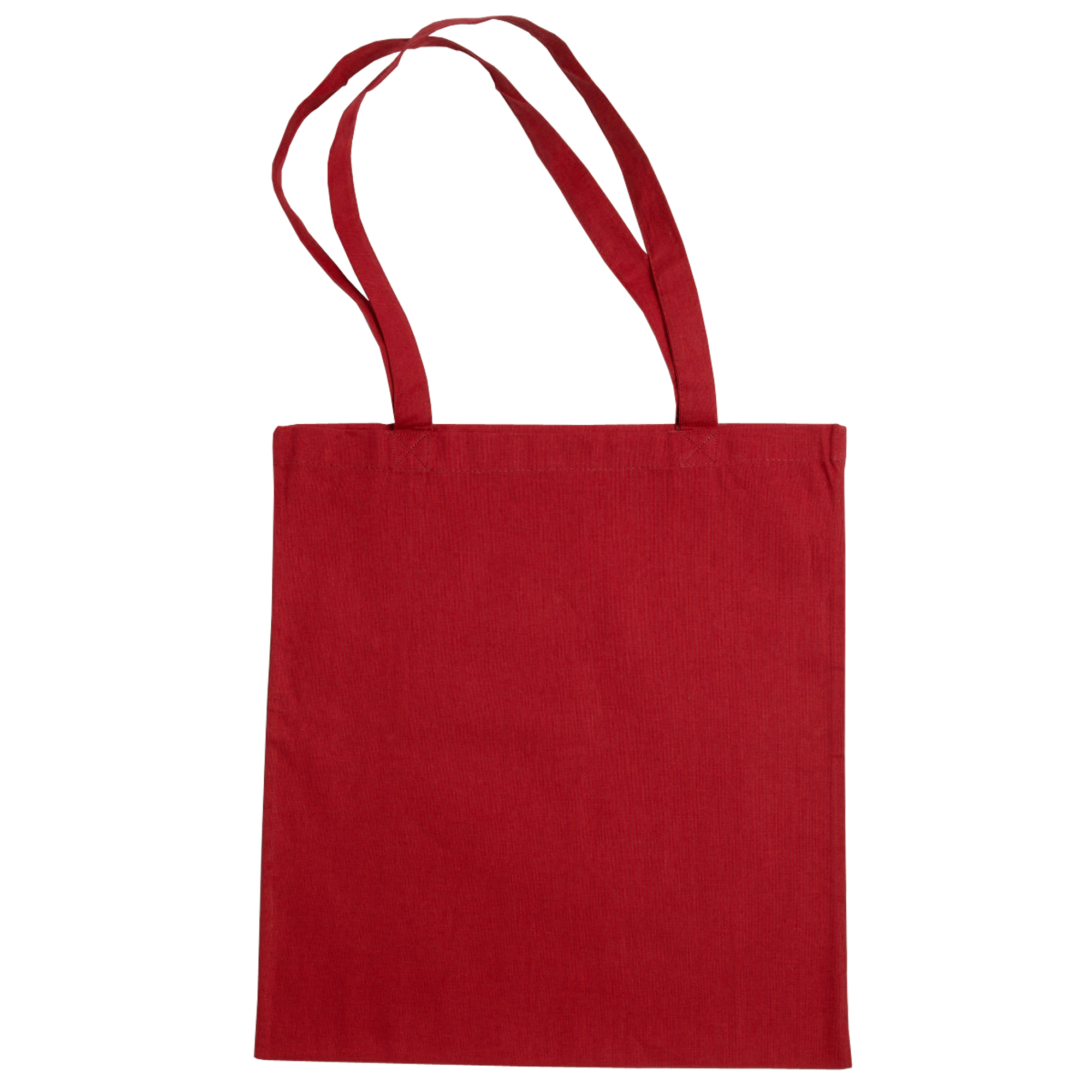 Jassz Bags Beech Cotton Large Handle Shopping Bag / Tote (One Size) (Red)