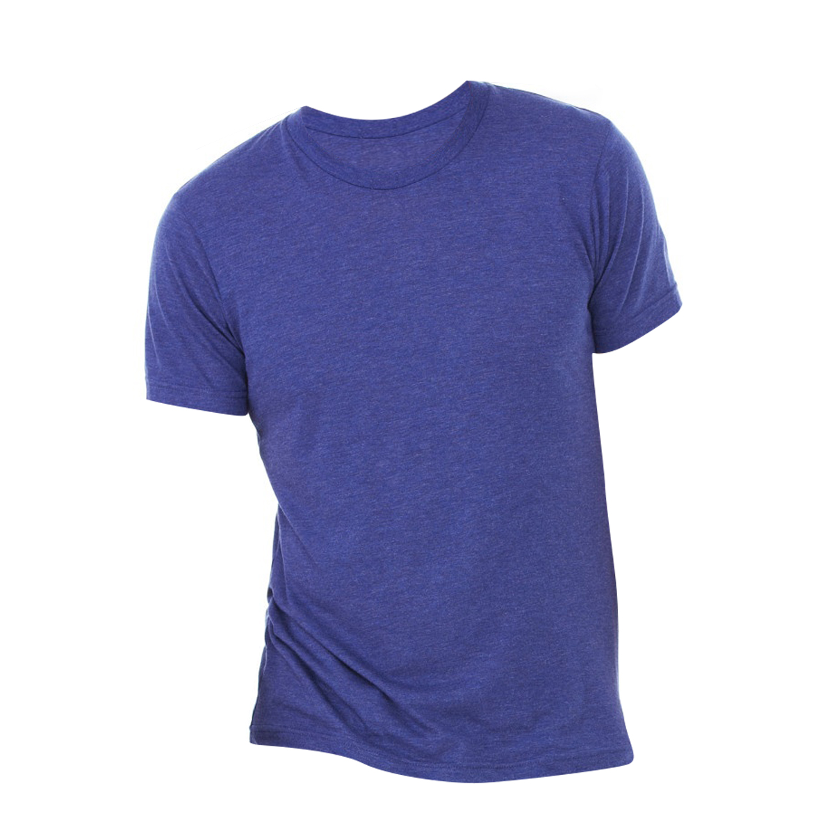 Canvas Mens Triblend Crew Neck Plain Short Sleeve T-Shirt (2XL) (Navy Triblend)