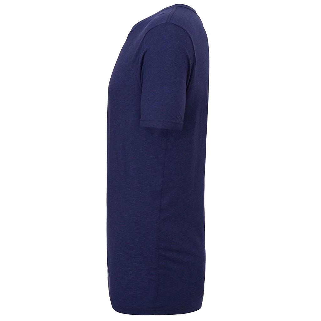 Canvas Mens Triblend Crew Neck Plain Short Sleeve T-Shirt (L) (Purple Triblend)