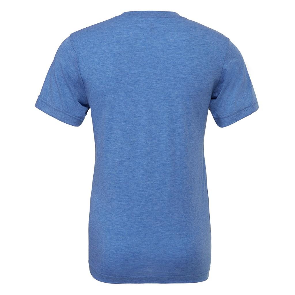 Canvas Mens Triblend Crew Neck Plain Short Sleeve T-Shirt (XL) (Teal Triblend)