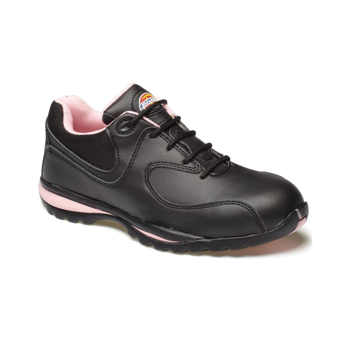 Dickies Zapatillas de Trabajo/Seguridad Laboral Modelo Ohio Para Mujer (37 EU/Negro/Rosa) Uz4VfwH