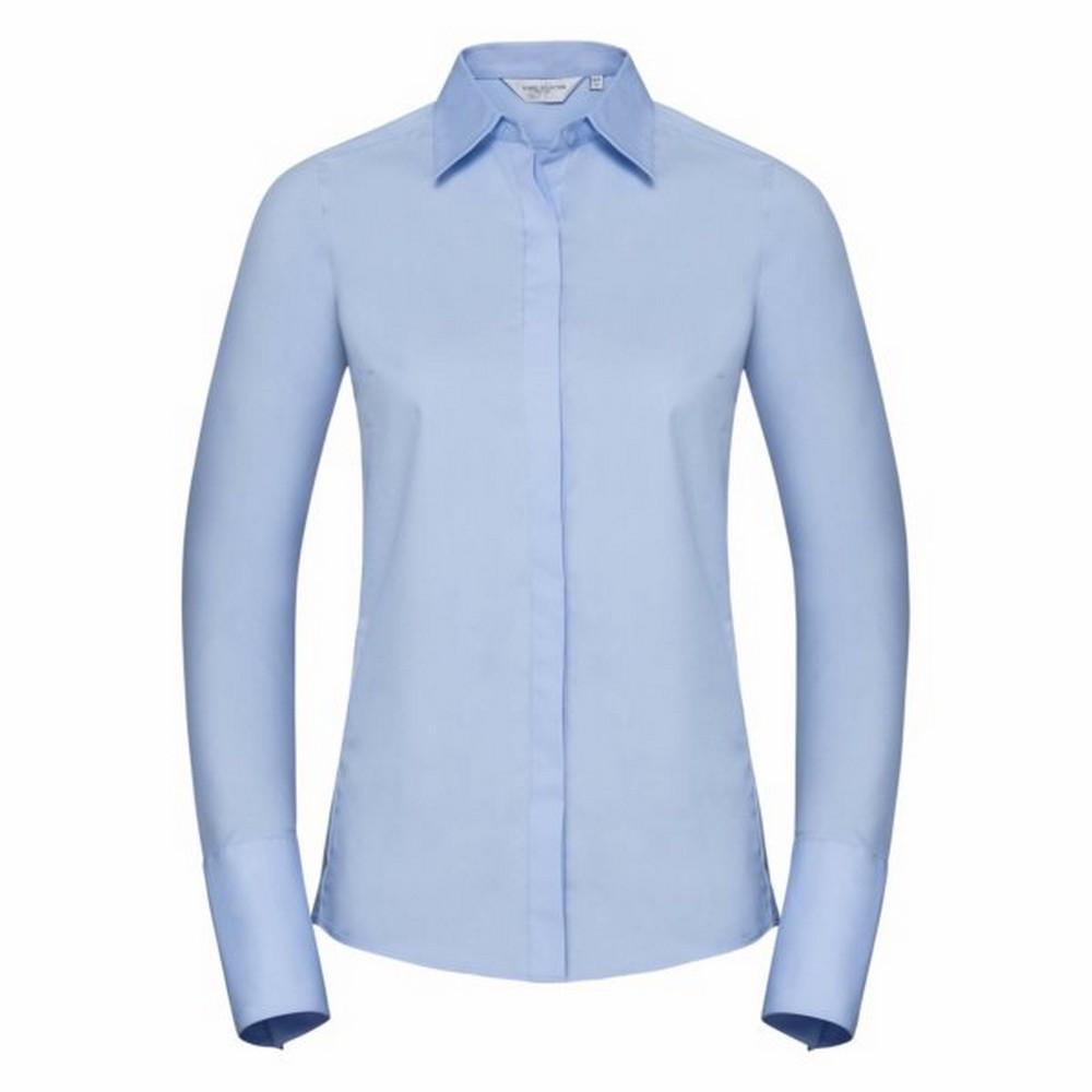 Russell Ladies/Womens Stretch Moisture Management Work Shirt (XS) (Bright Sky)