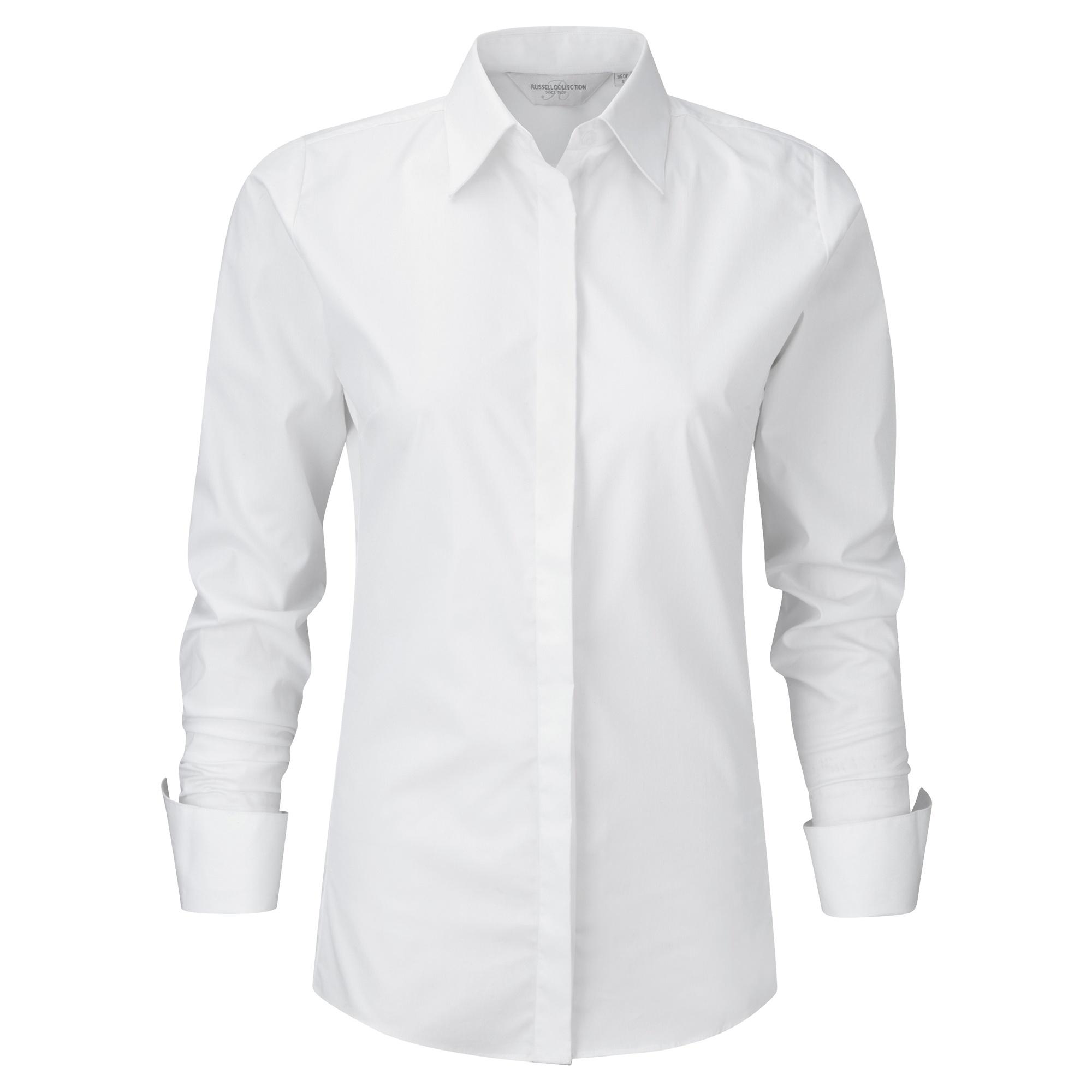 Russell Ladies/Womens Stretch Moisture Management Work Shirt (XS) (White)